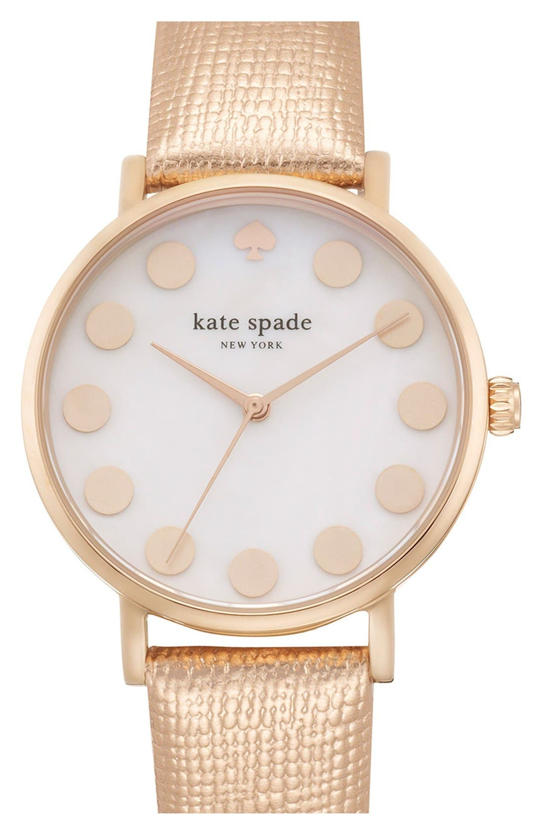 Alternate Image 4  - kate spade new york 'metro' boxed dot dial watch & straps set, 34mm (Nordstrom Exclusive)
