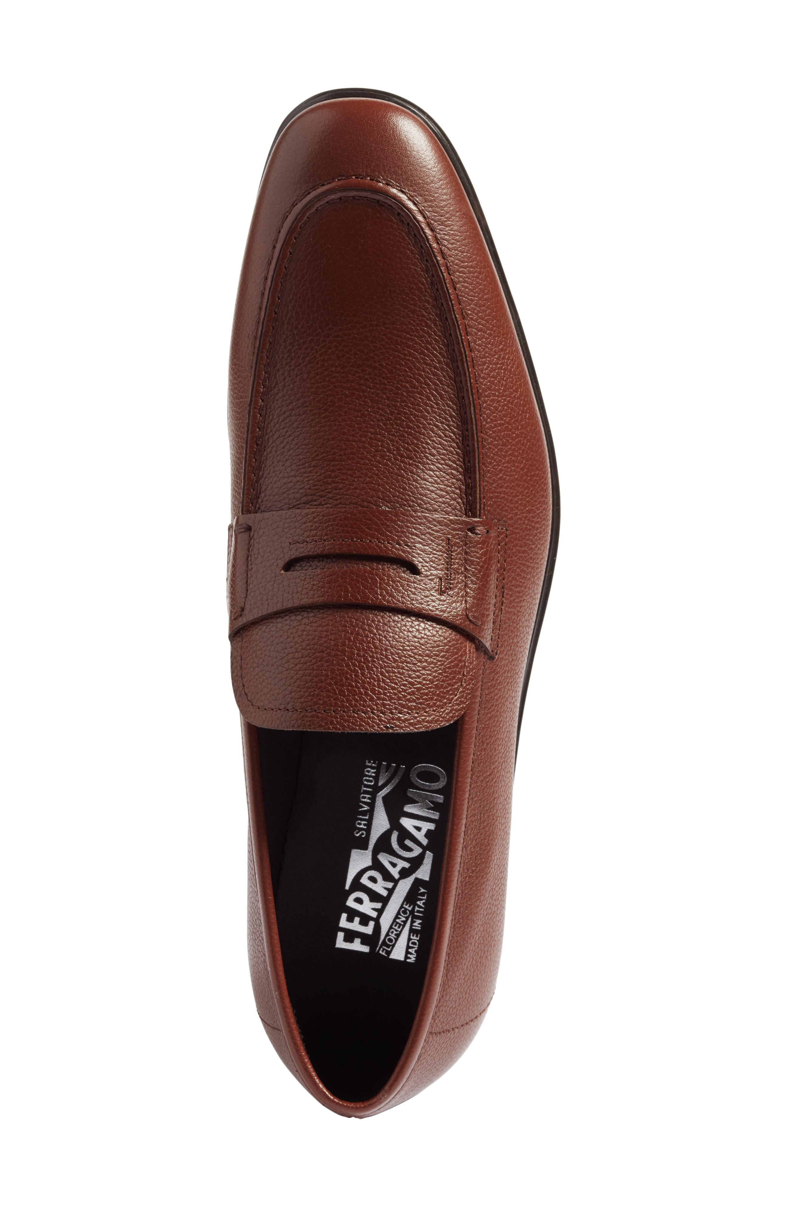 Fiorino 2 Penny Loafer,                             Alternate thumbnail 5, color,                             Dark Cuoio Leather