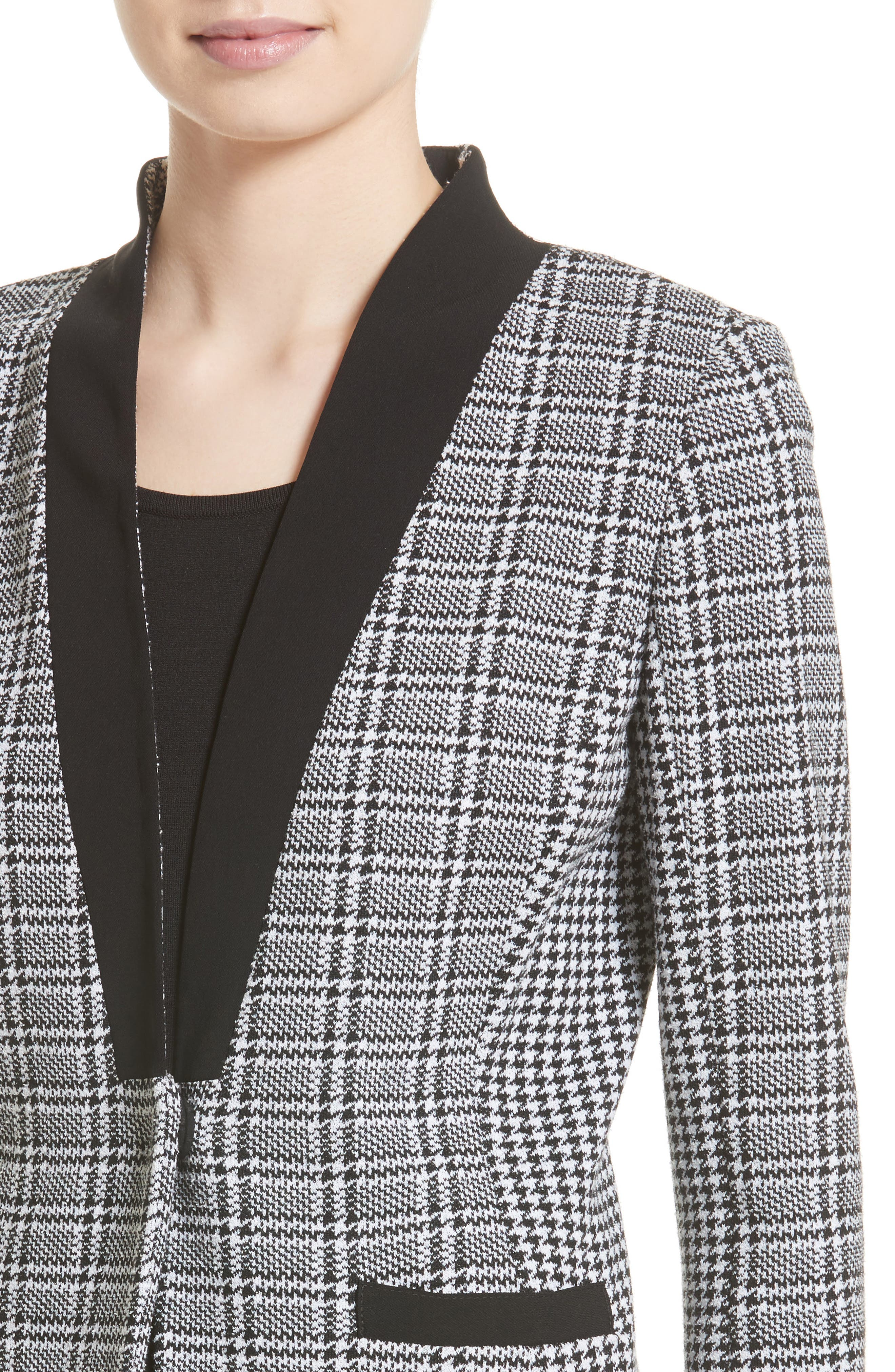 Alternate Image 4  - St. John Collection Mini Houndstooth Plaid Jacket