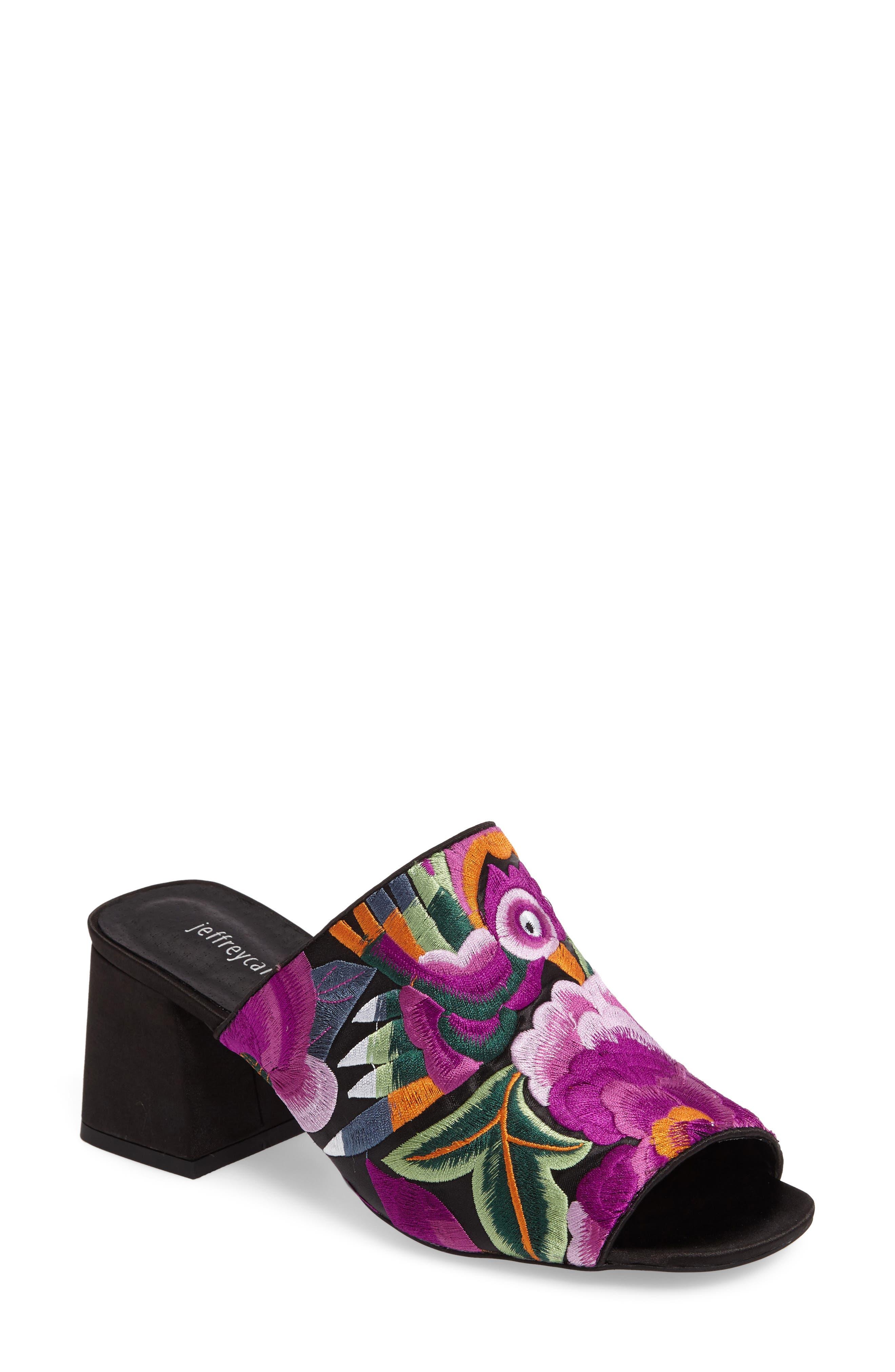 Jeffrey Campbell Perpetua Embroidered Open-Toe Mule (Women)