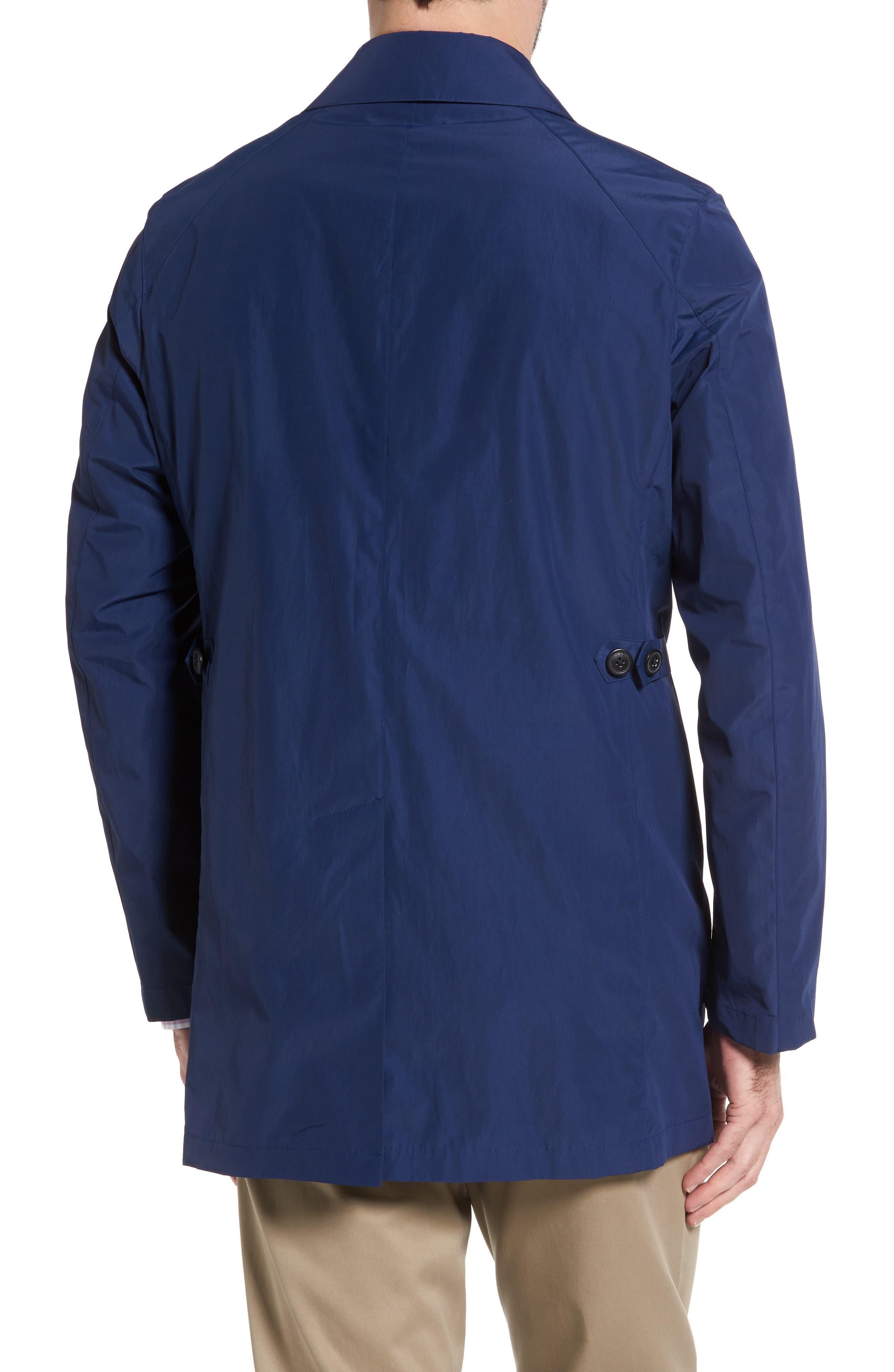 Austin Cotton Blend Raincoat,                             Alternate thumbnail 2, color,                             Royal Blue
