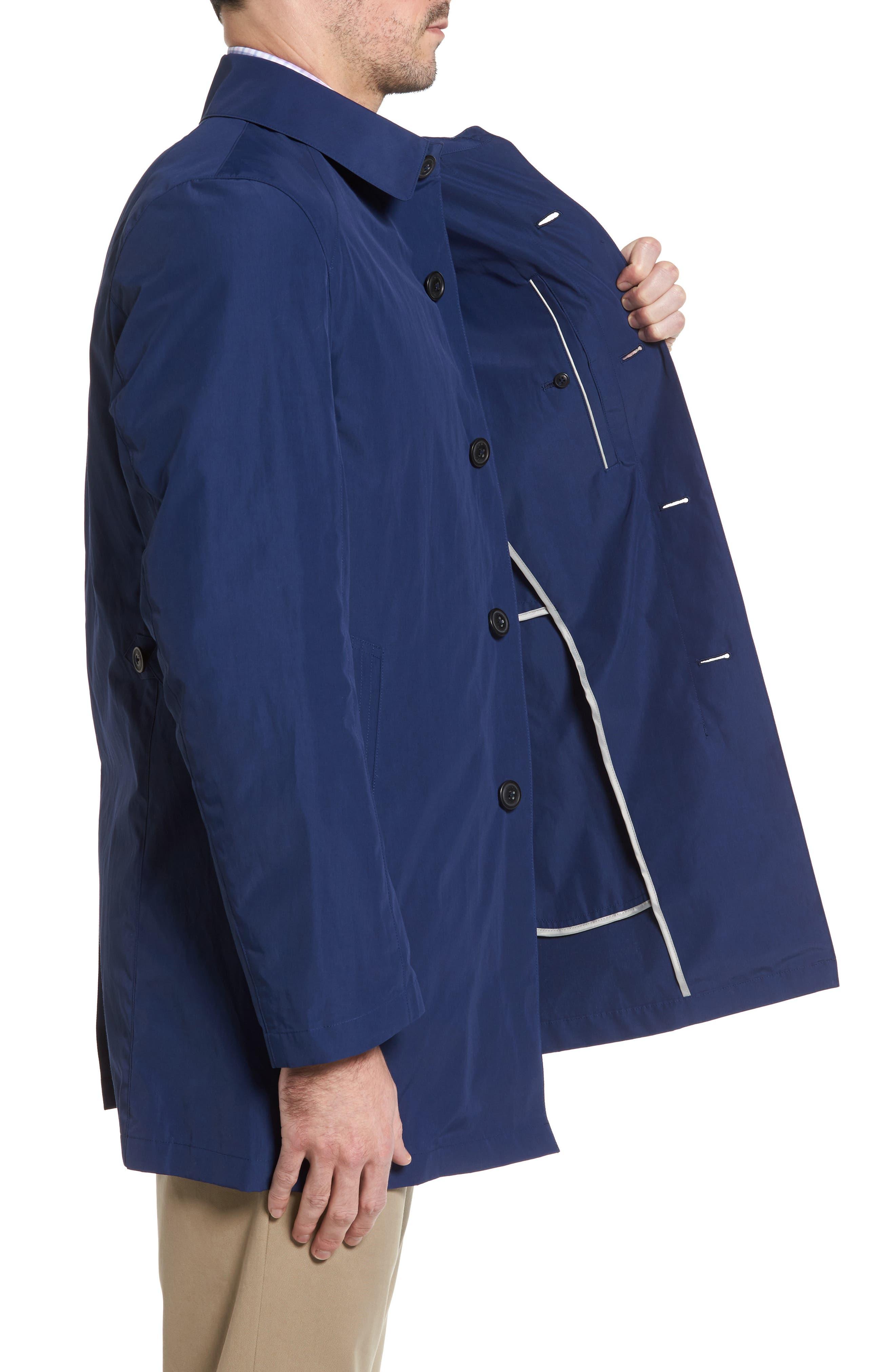 Austin Cotton Blend Raincoat,                             Alternate thumbnail 3, color,                             Royal Blue