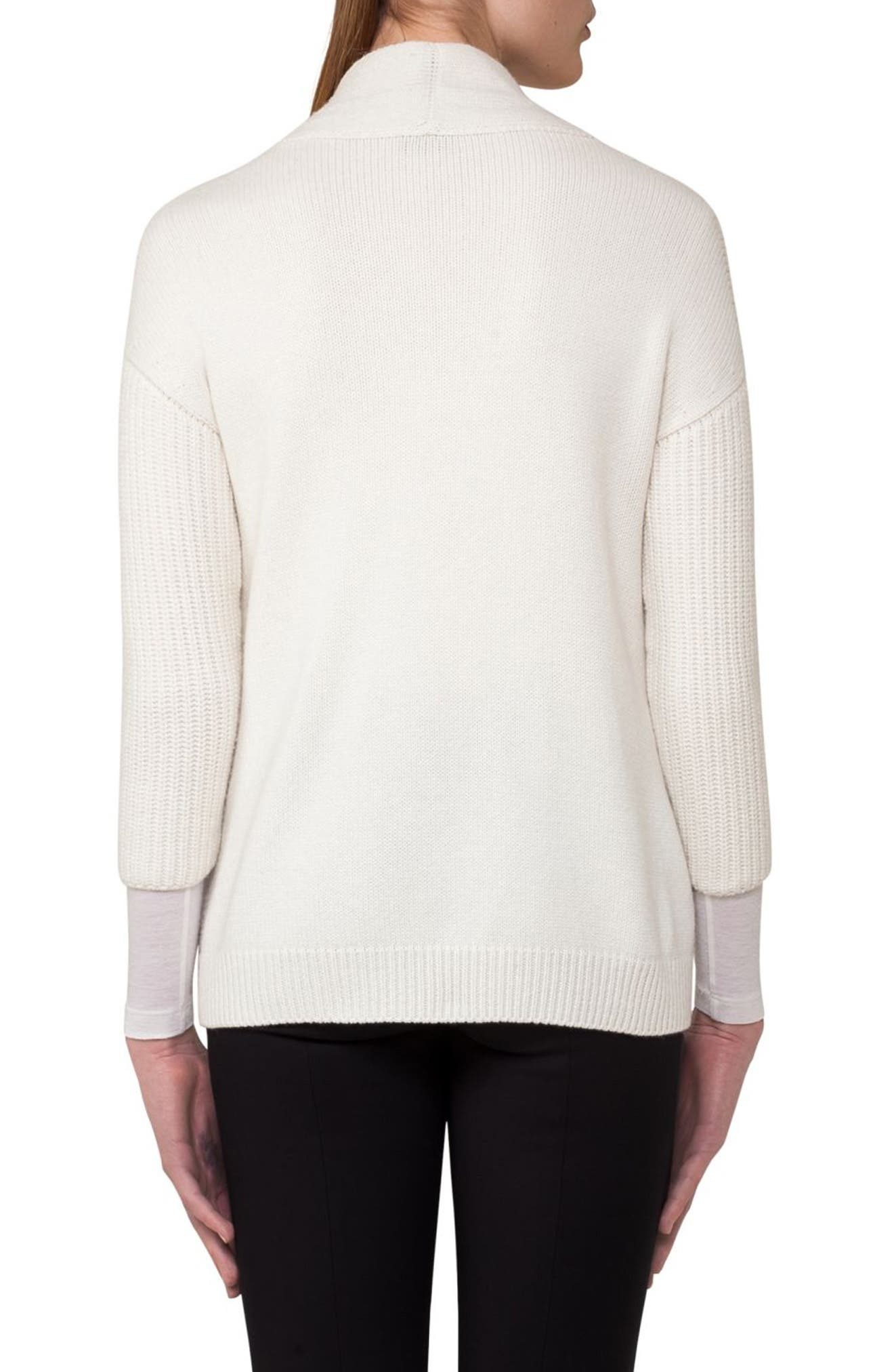 Alternate Image 2  - Akris Zip Detail Drape Cashmere Cardigan