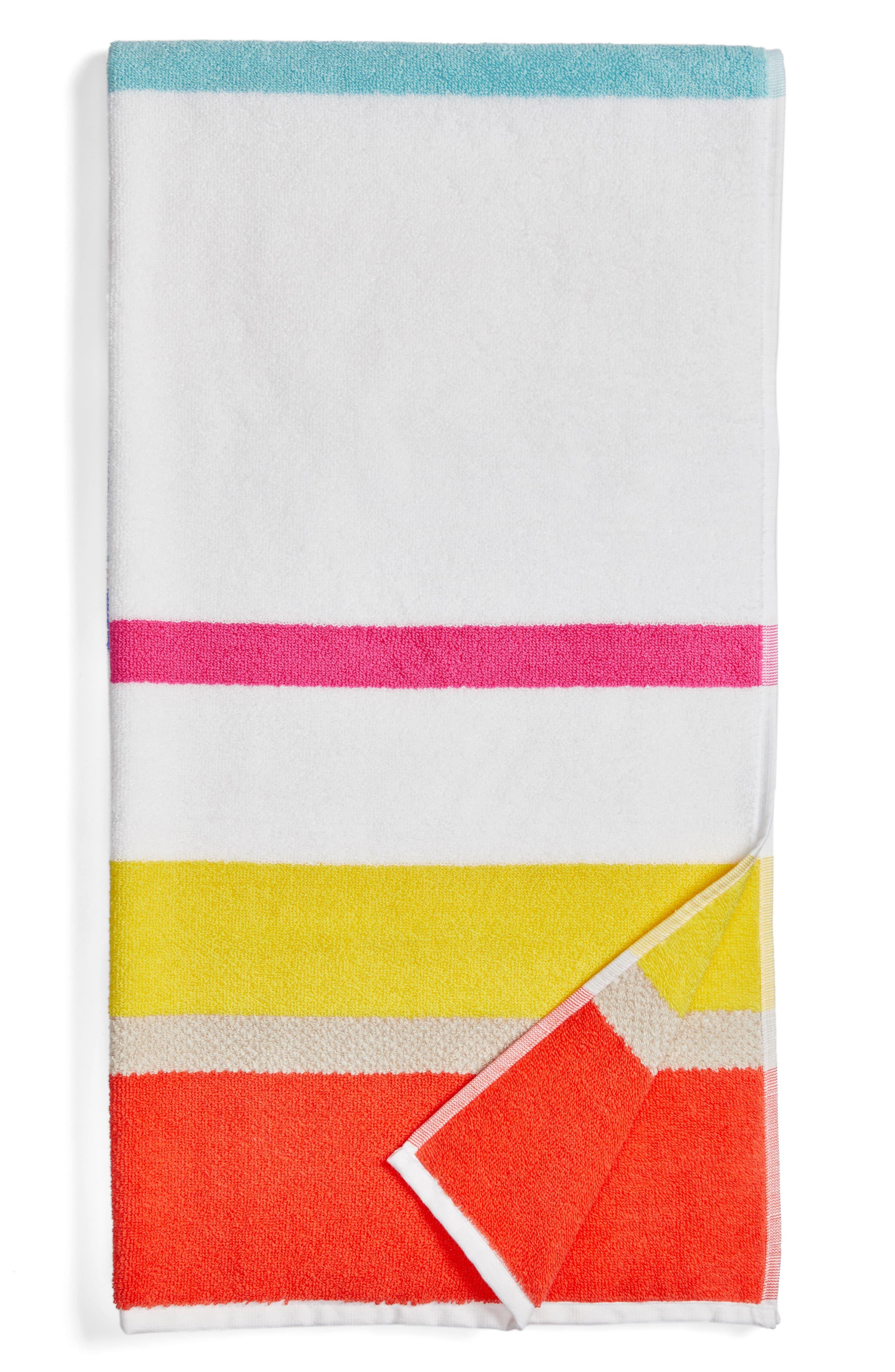 paintball floral bath towel,                             Main thumbnail 1, color,                             Pink/ Multi