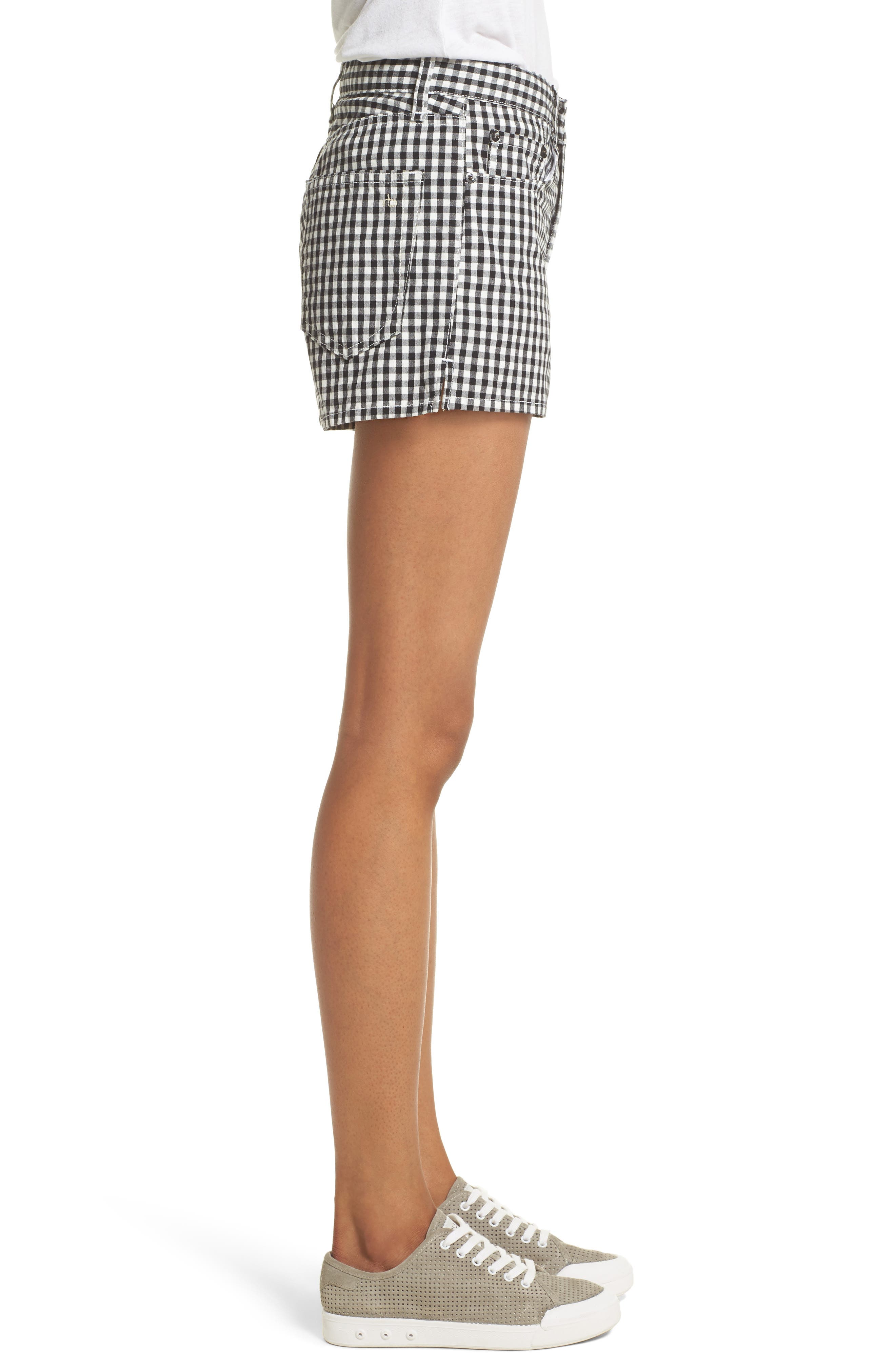 Justine Gingham Shorts,                             Alternate thumbnail 3, color,                             Gingham