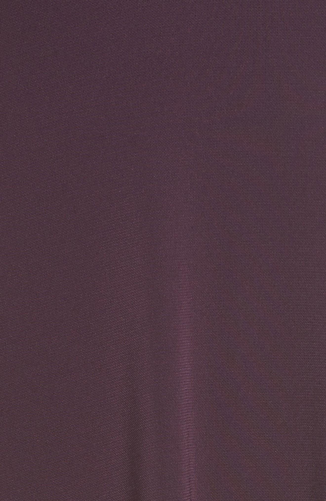 Taylor Flare Sleeve A-Line Dress,                             Alternate thumbnail 5, color,                             Eggplant