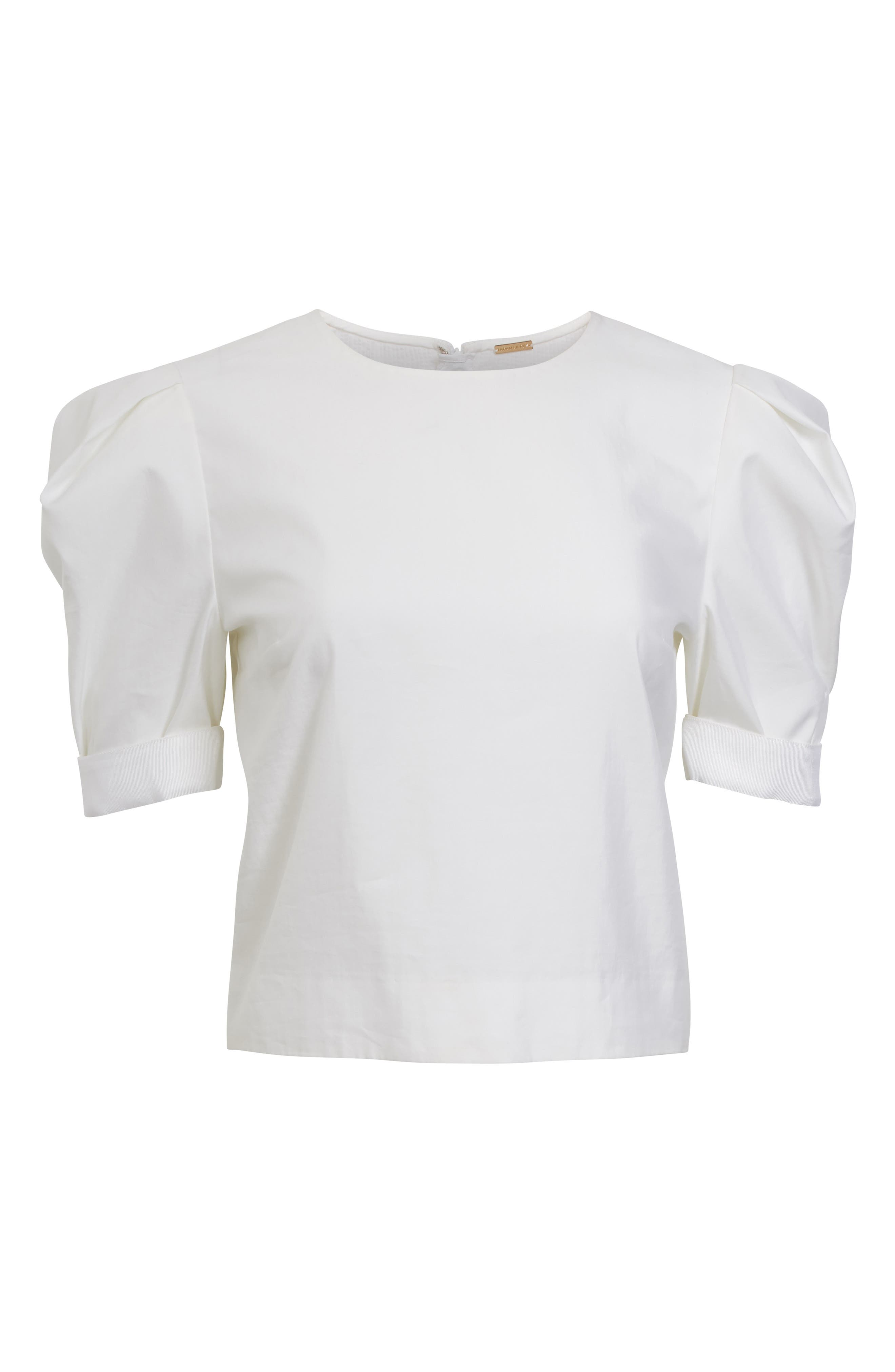 Alternate Image 4  - Adam Lippes Puff Sleeve Cotton Blouse