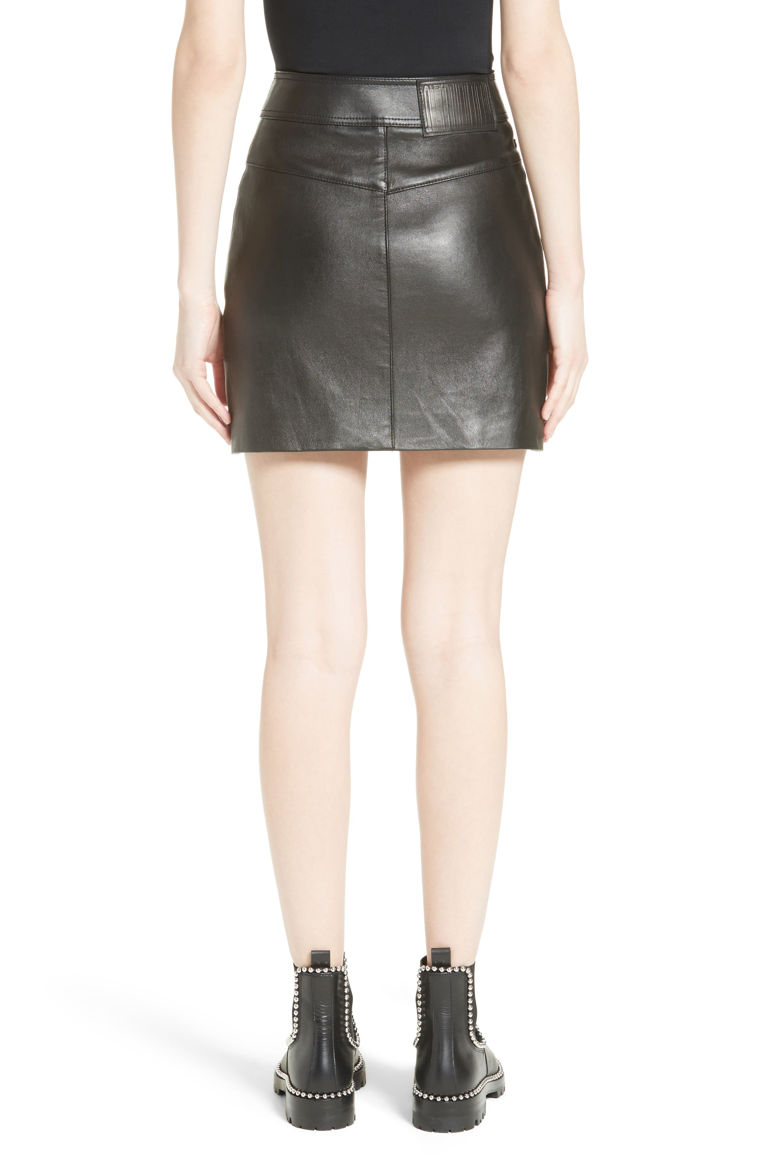 Alternate Image 3  - Alexander Wang Snap Leather Miniskirt