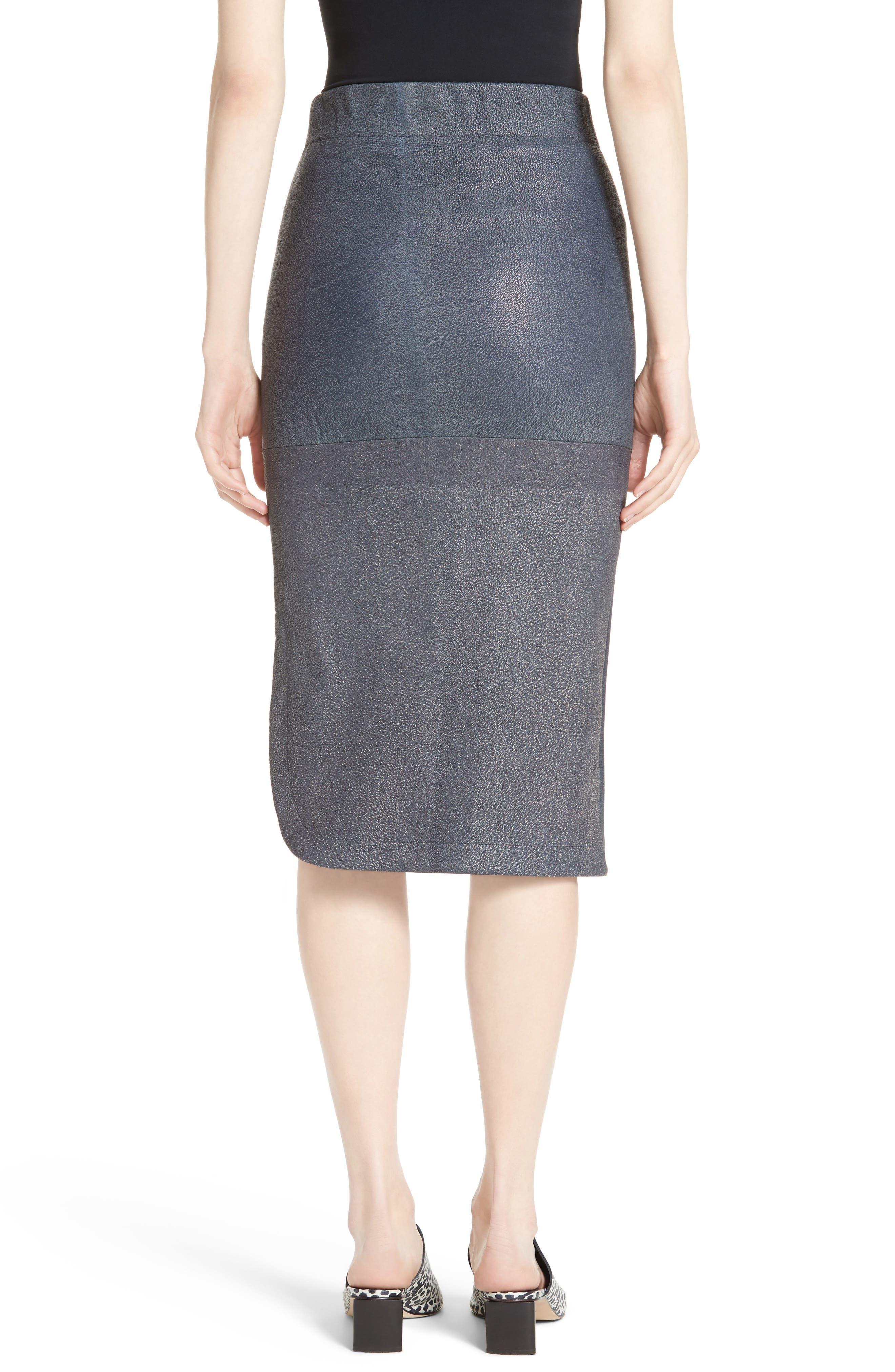 Alternate Image 2  - Zero + Maria Cornejo Rai Leather Curved Skirt