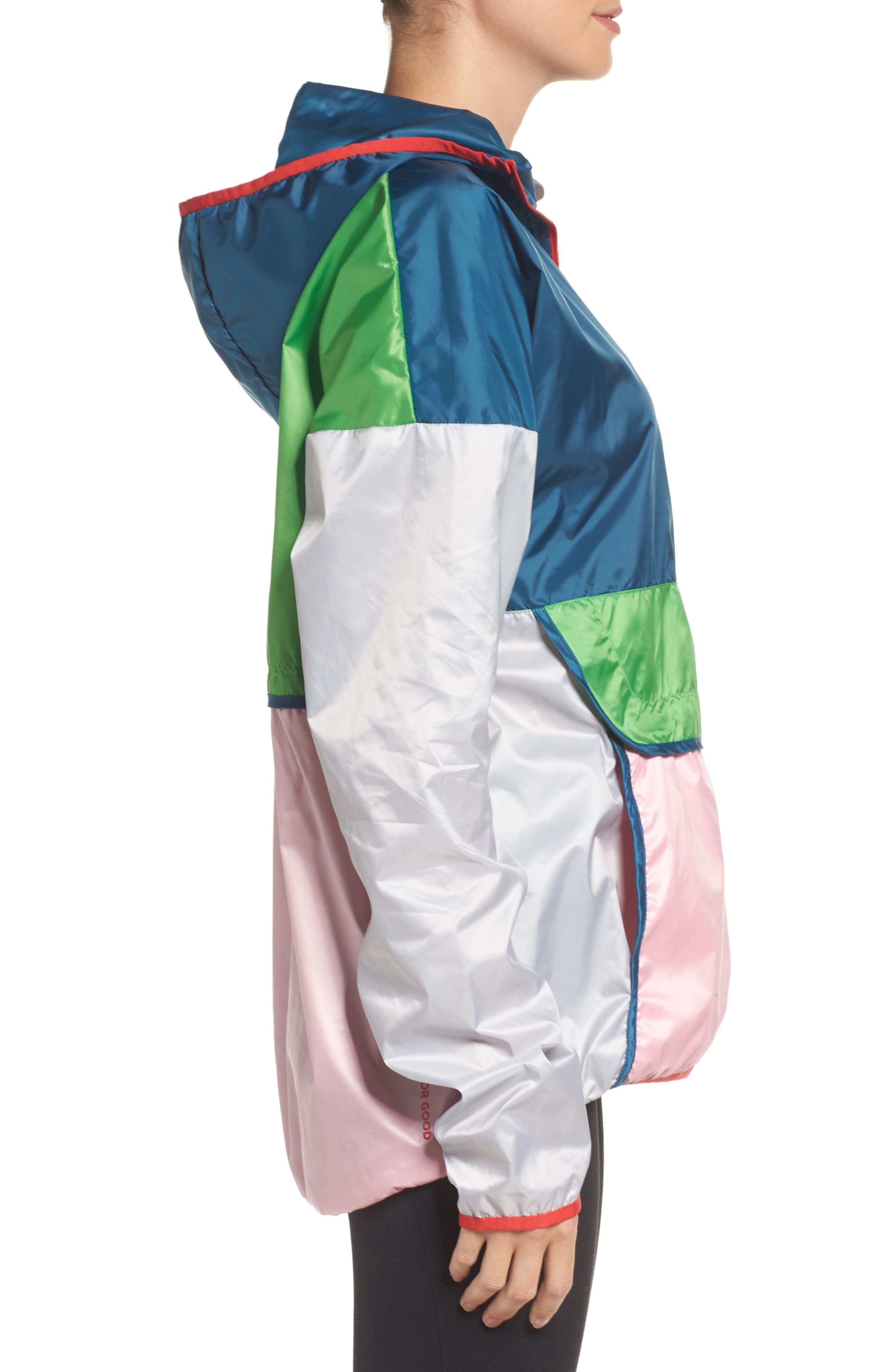 Teca Packable Water Resistant Windbreaker Jacket,                             Alternate thumbnail 3, color,                             Freshy Fresh