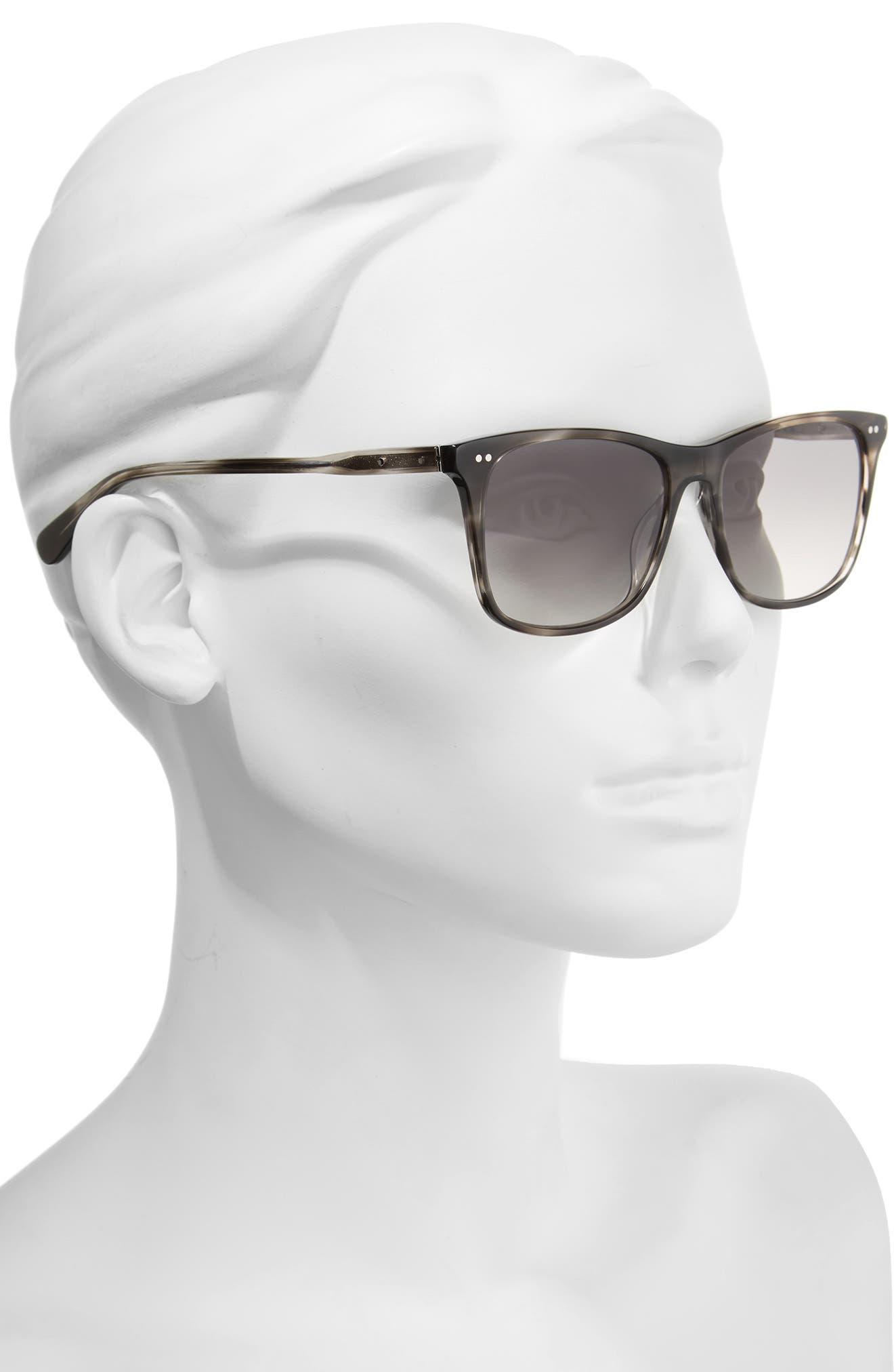 The Thatcher 54mm Gradient Sunglasses,                             Alternate thumbnail 2, color,                             Grey Havana