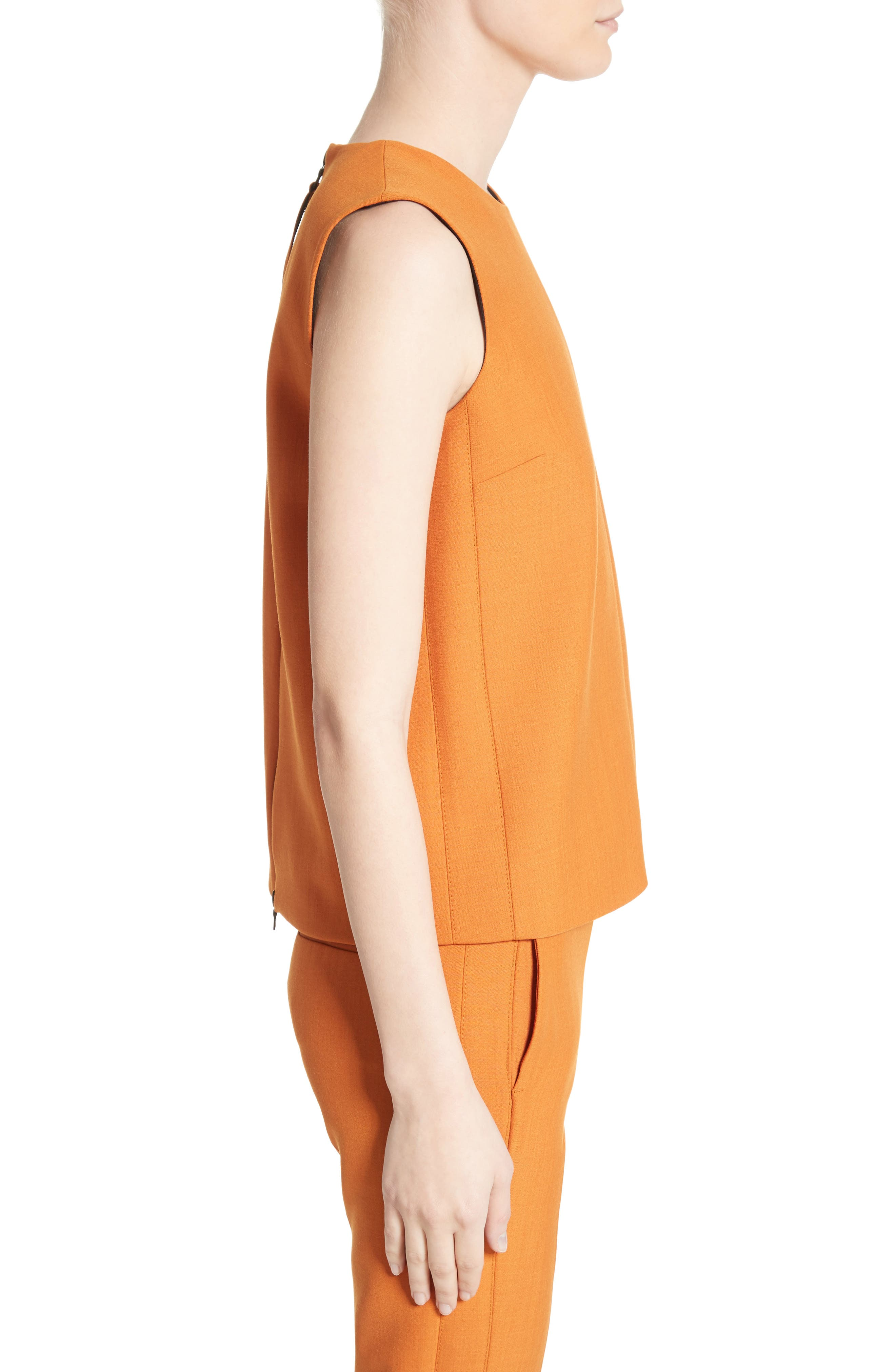 Sleeveless Top,                             Alternate thumbnail 4, color,                             Maple