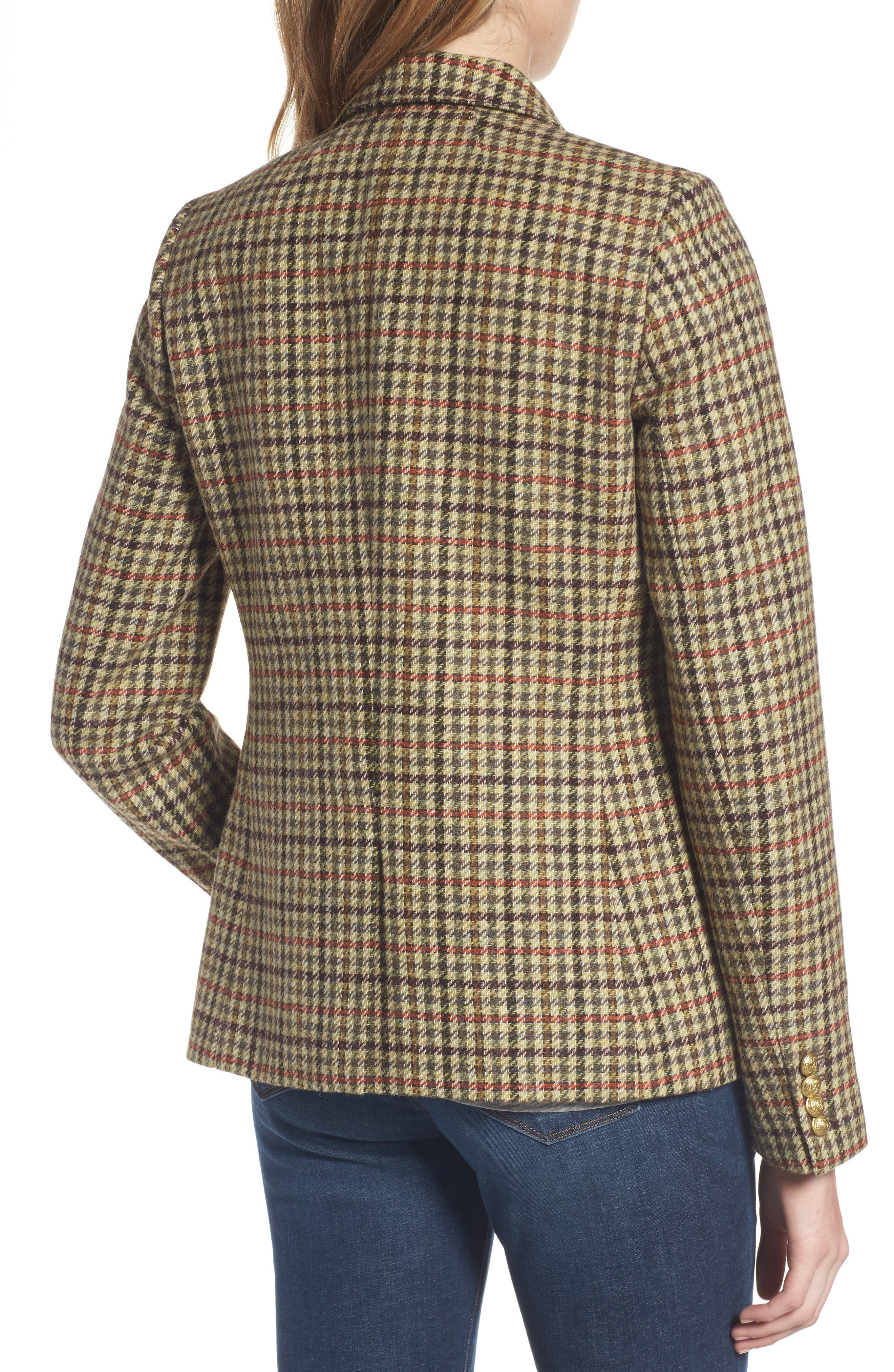 Alternate Image 3  - J.Crew Regent Houndstooth Plaid Blazer (Regular & Petite)