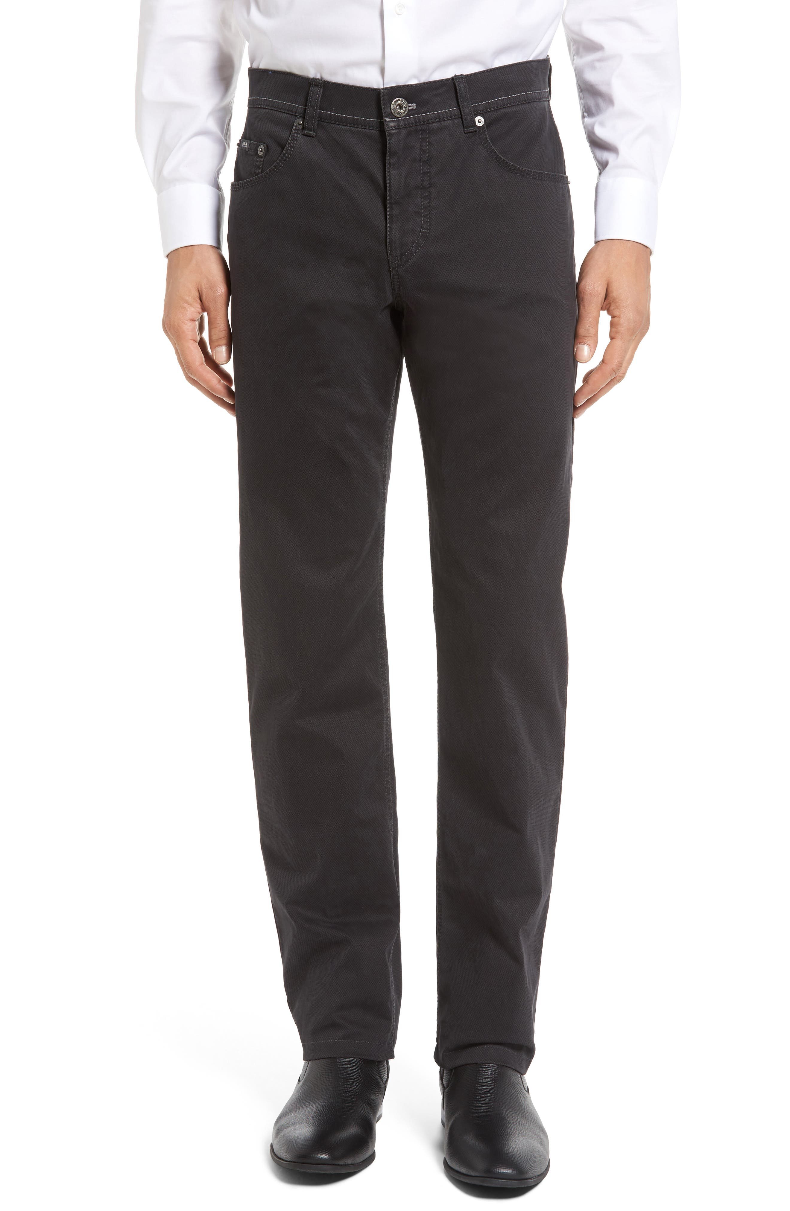 Luxury Stretch Modern Fit Trousers,                         Main,                         color, Charcoal