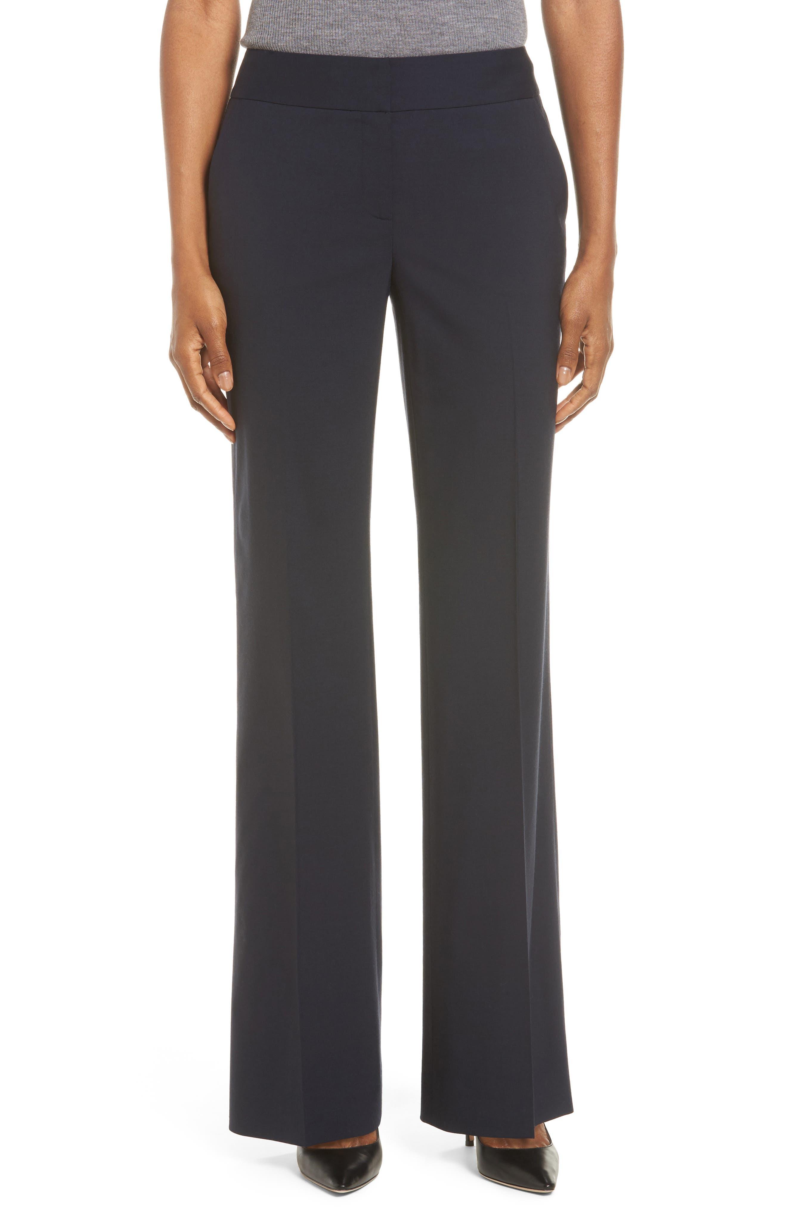 CLASSIQUES ENTIER<SUP>®</SUP> Stretch Flare Leg Suit Pants