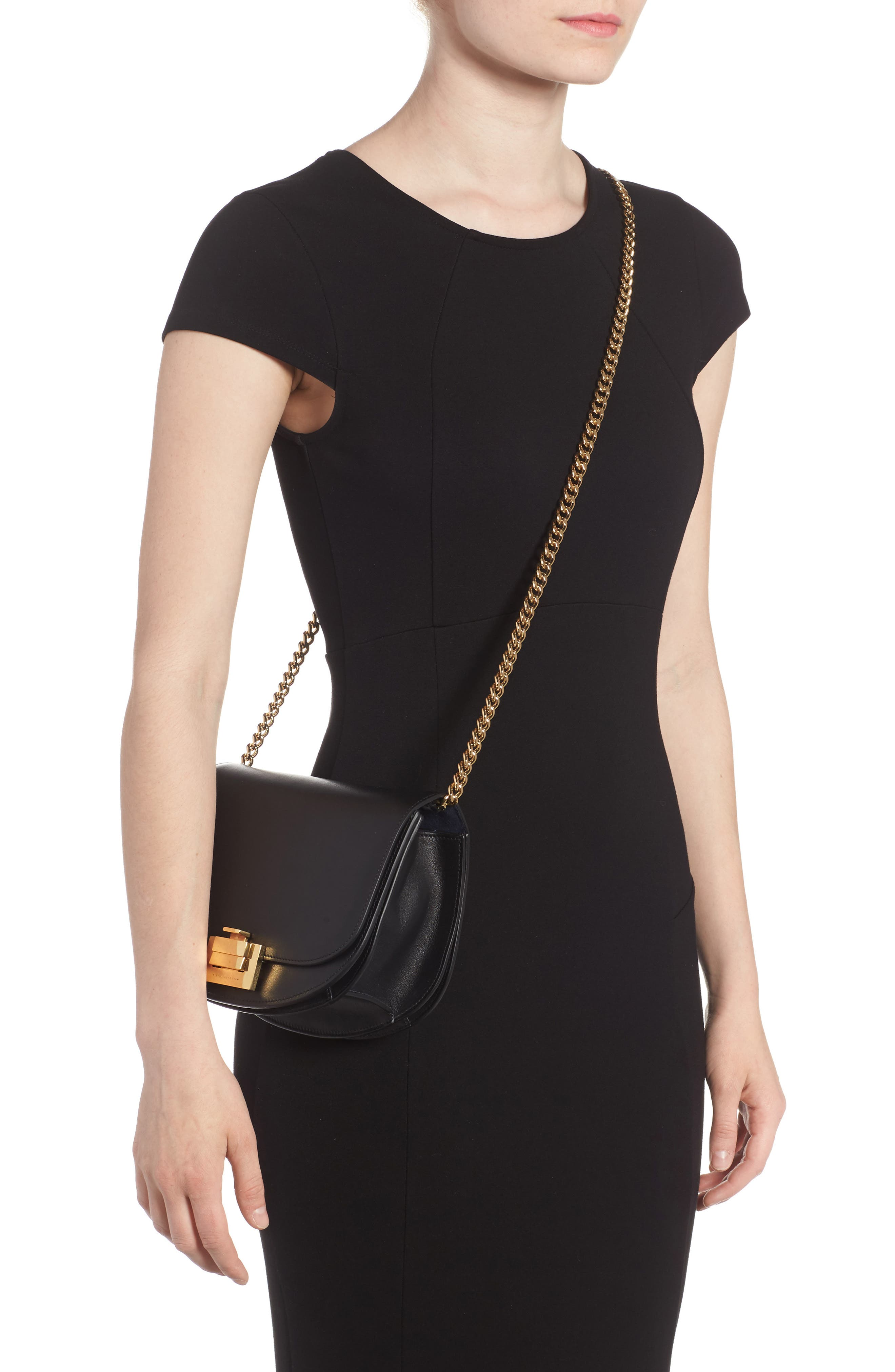 Leather Bag,                             Alternate thumbnail 2, color,                             Black