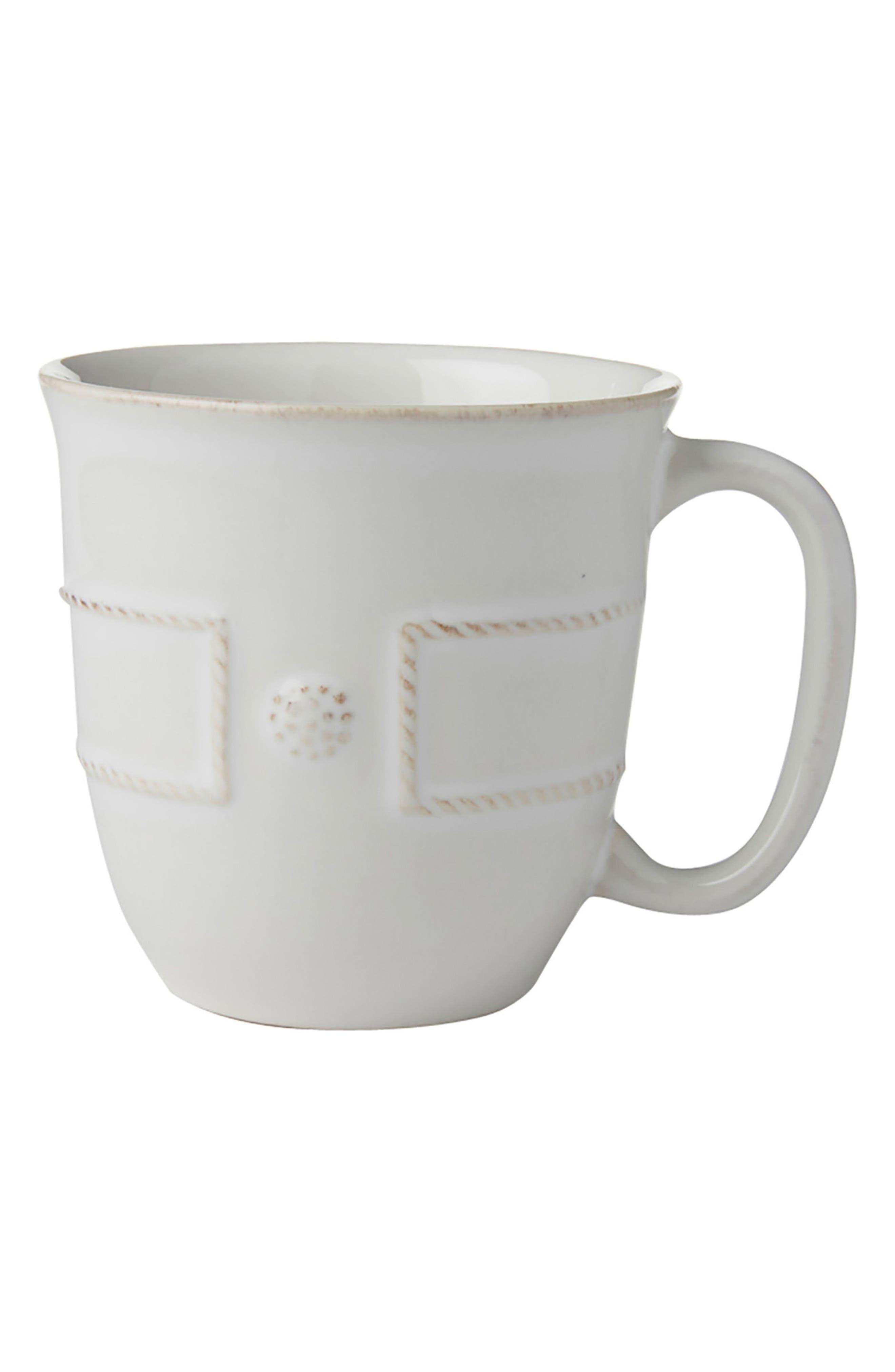 Berry & Thread Ceramic Cup,                         Main,                         color, Whitewash