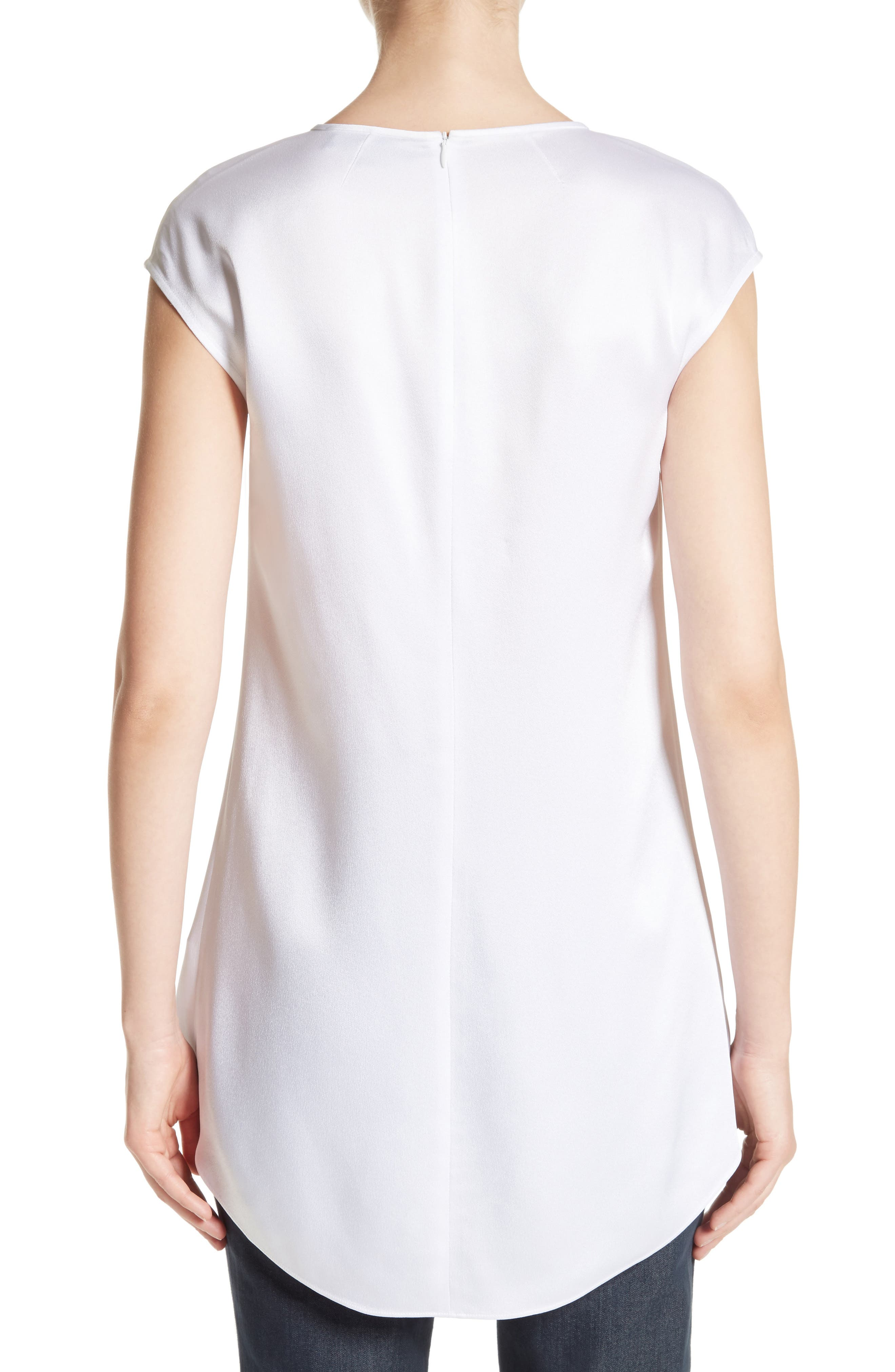 Alternate Image 2  - St. John Collection Satin Back Crepe Top