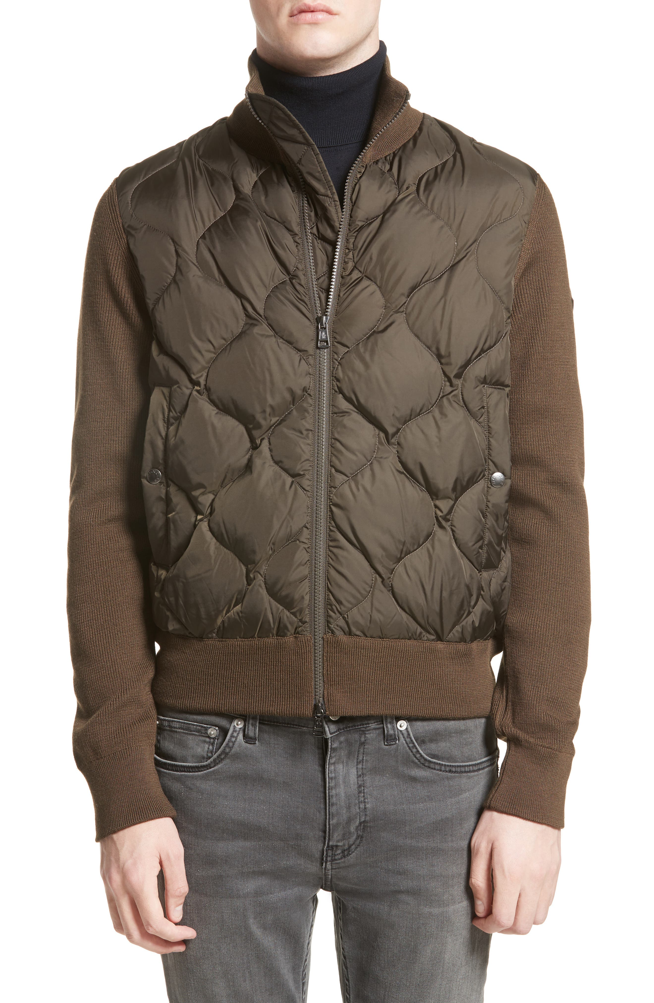 Alternate Image 4  - Moncler Maglione Knit Sleeve Quilted Jacket
