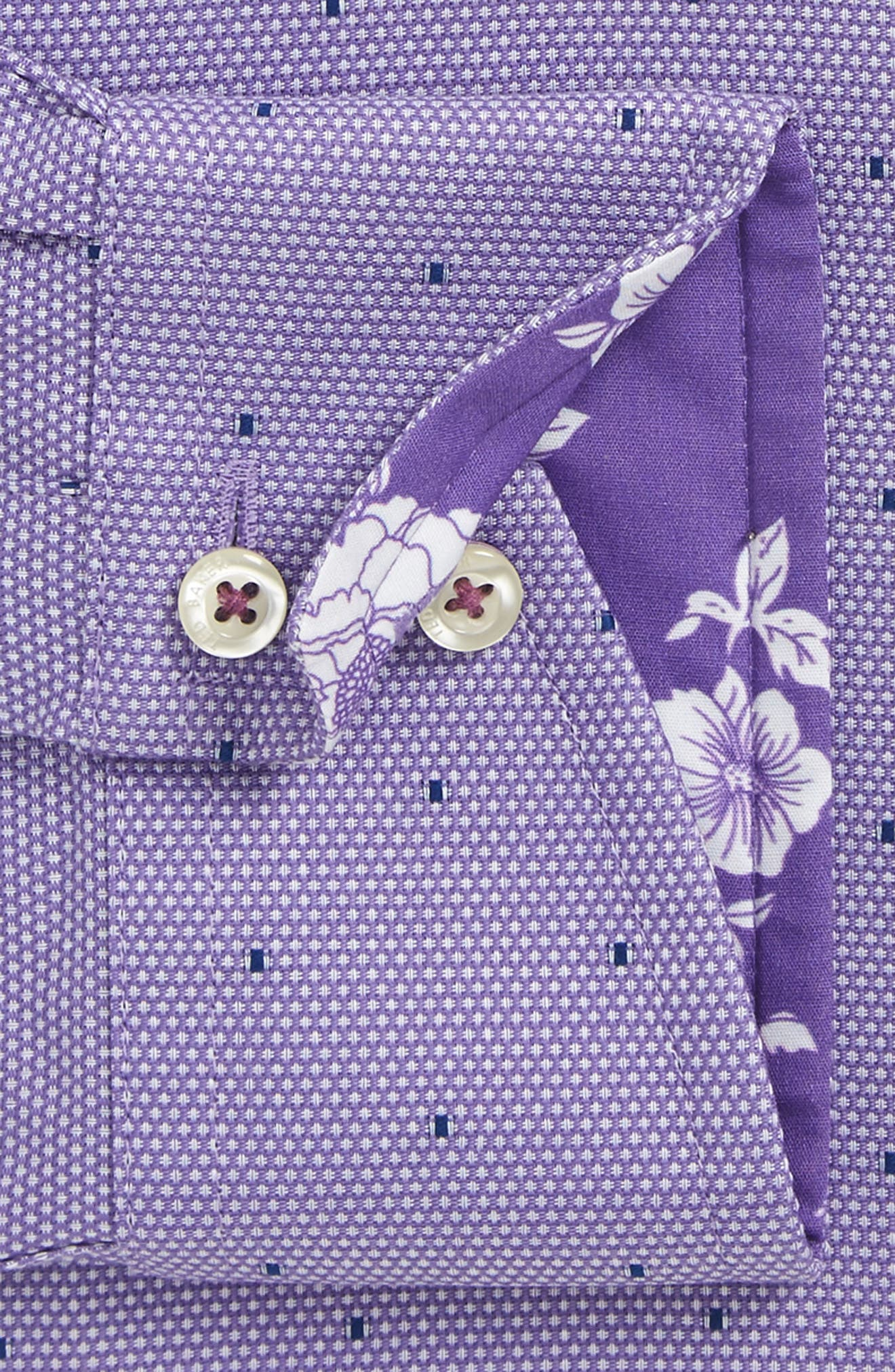 Alternate Image 4  - Ted Baker London Trim Fit Dot Dress Shirt