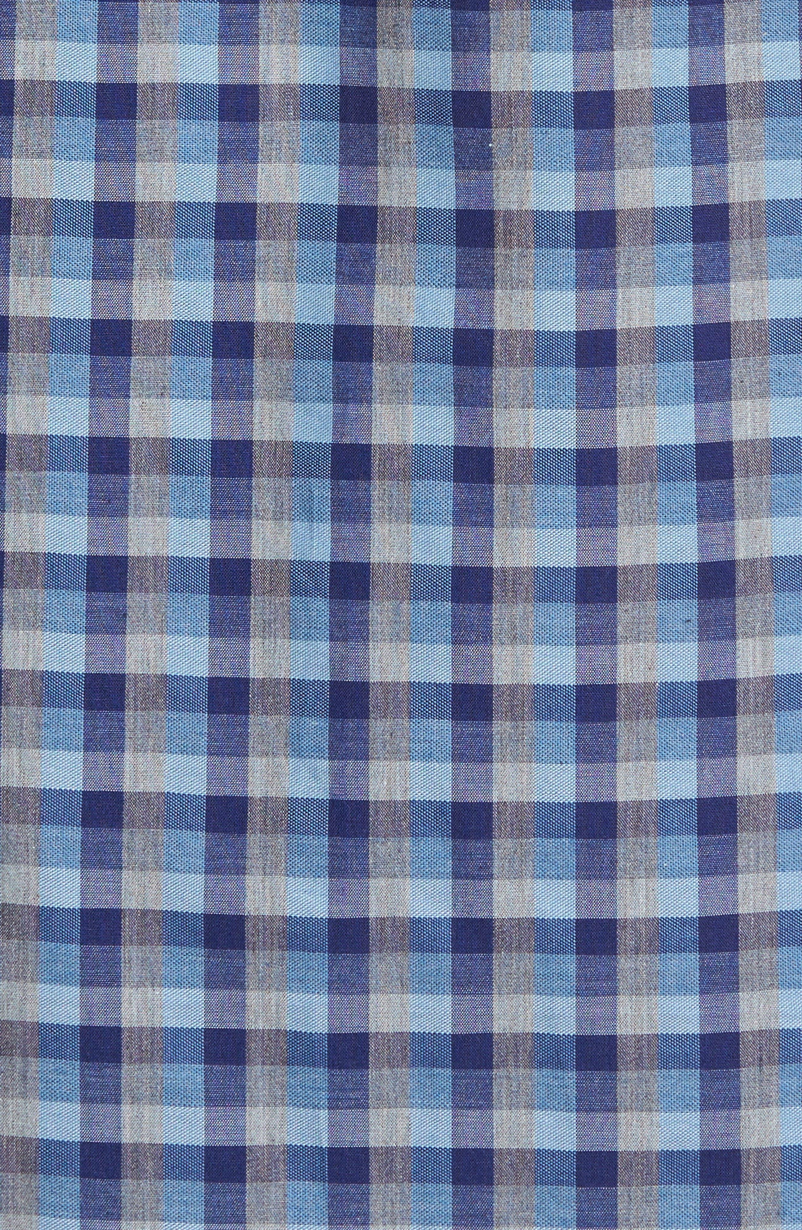 Check Short Sleeve Sport Shirt,                             Alternate thumbnail 5, color,                             Blue