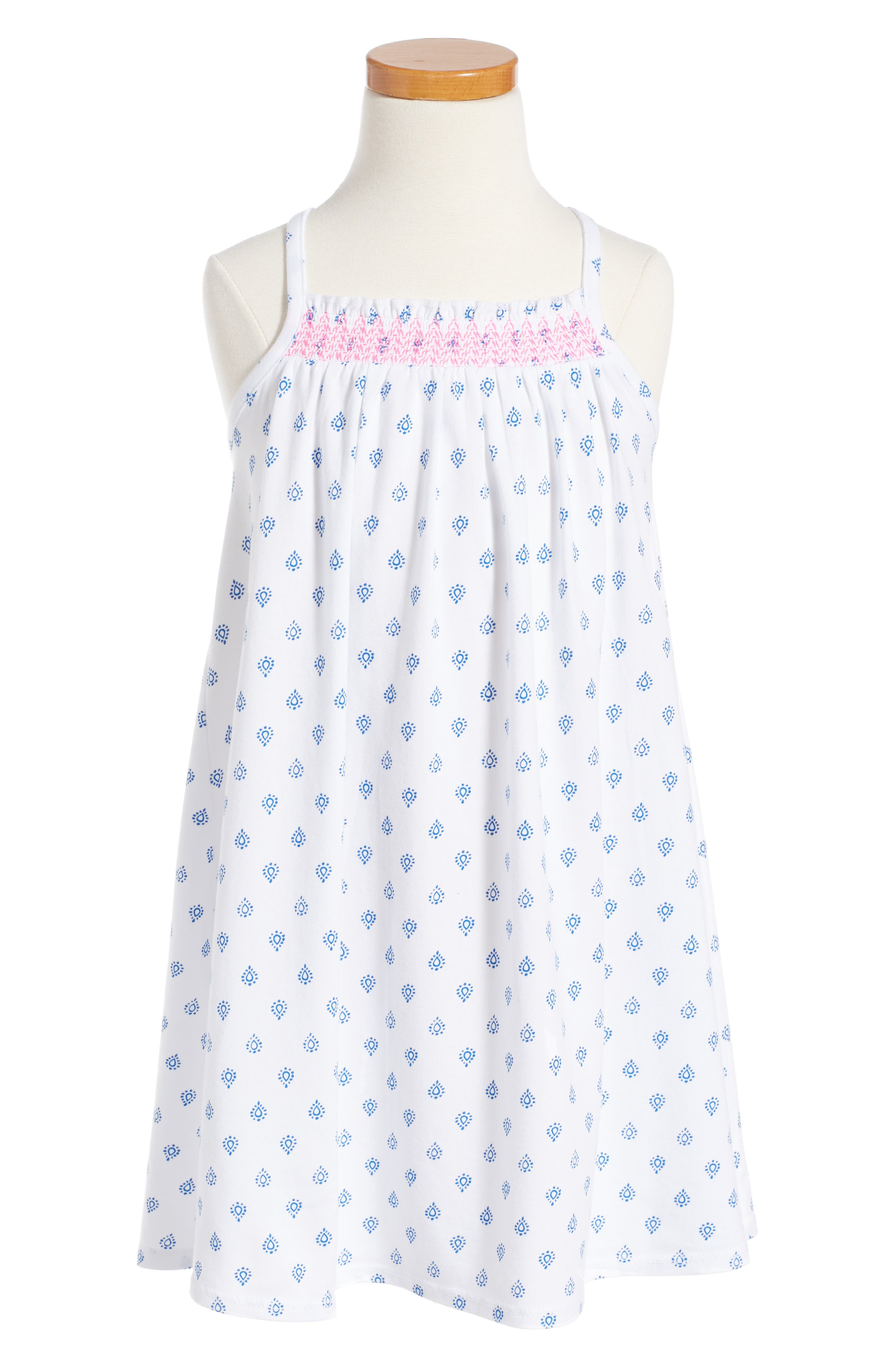Tucker + Tate Smocked Halter Dress (Toddler Girls, Little Girls & Big Girls)
