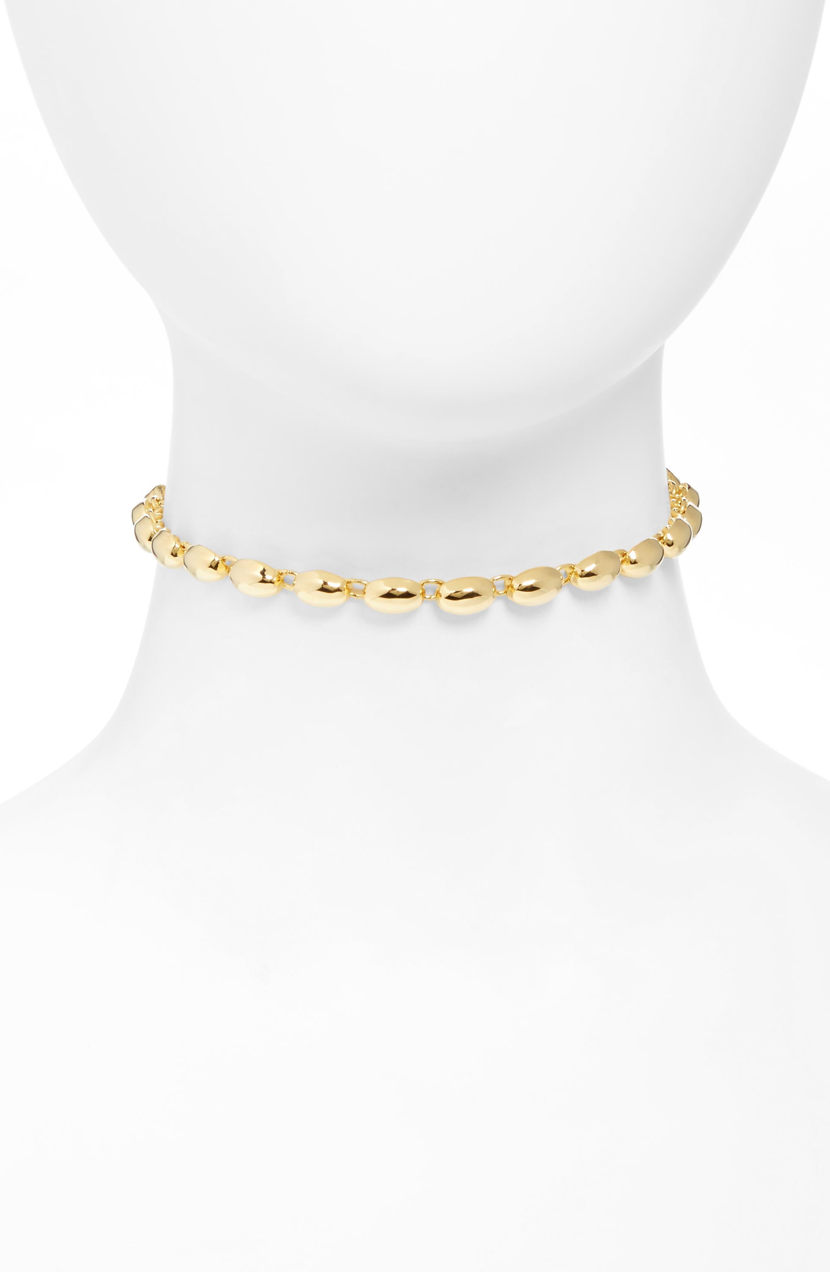 Rosa Blake Choker Necklace,                             Main thumbnail 1, color,                             Gold