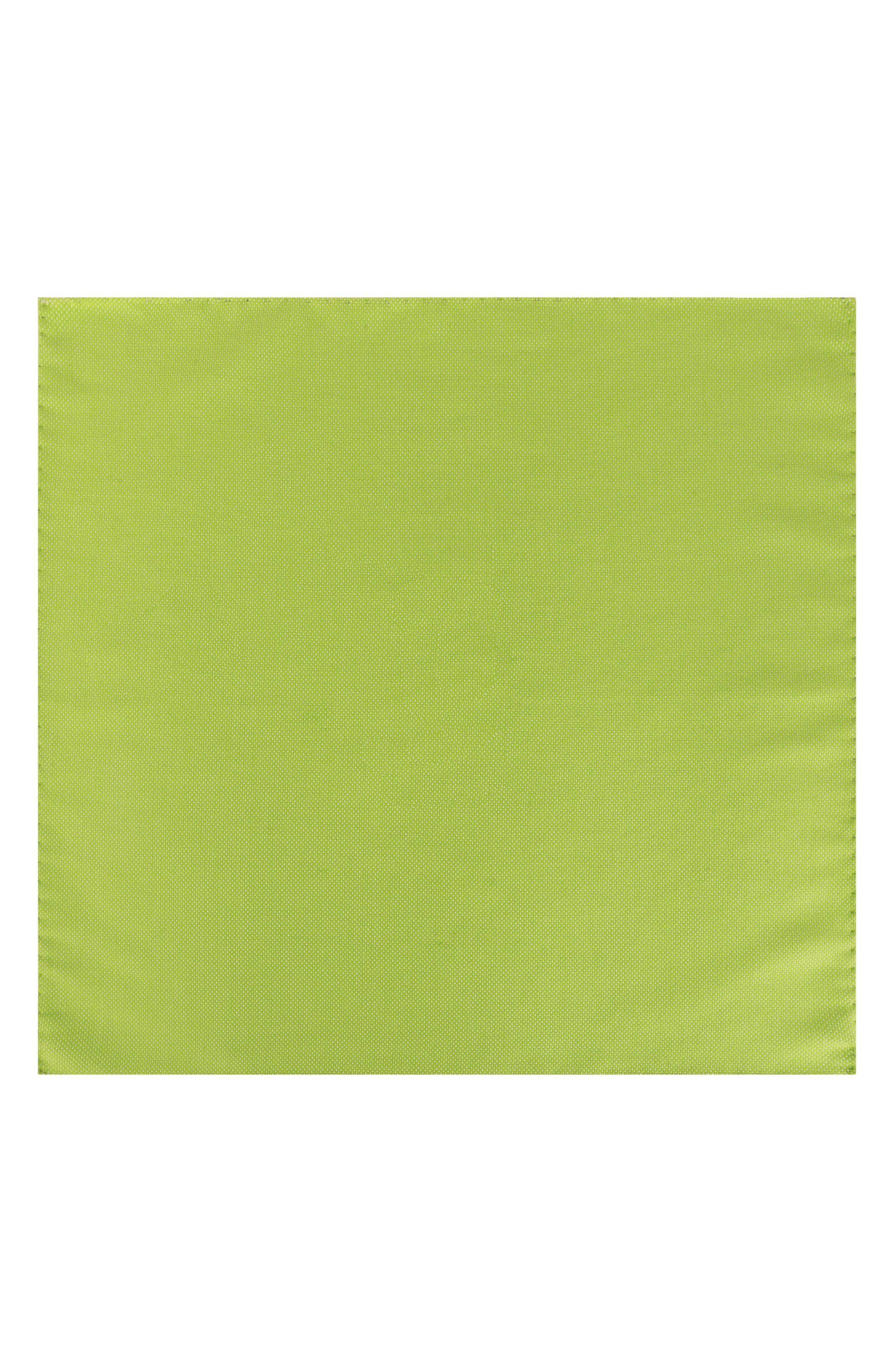 Solid Cotton Pocket Square,                             Alternate thumbnail 2, color,                             Lime