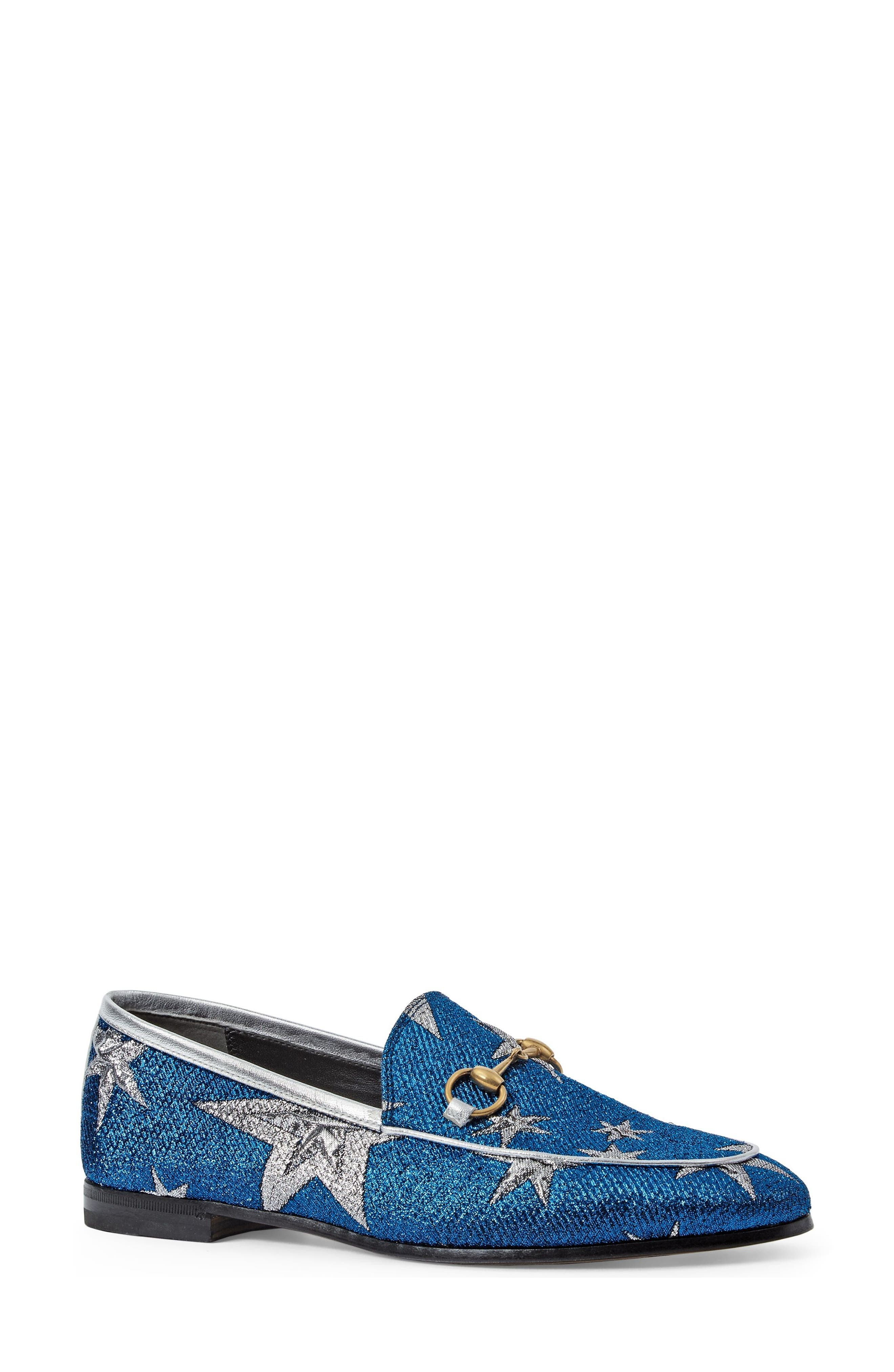 Alternate Image 1 Selected - Gucci Brixton Star Loafer (Women)