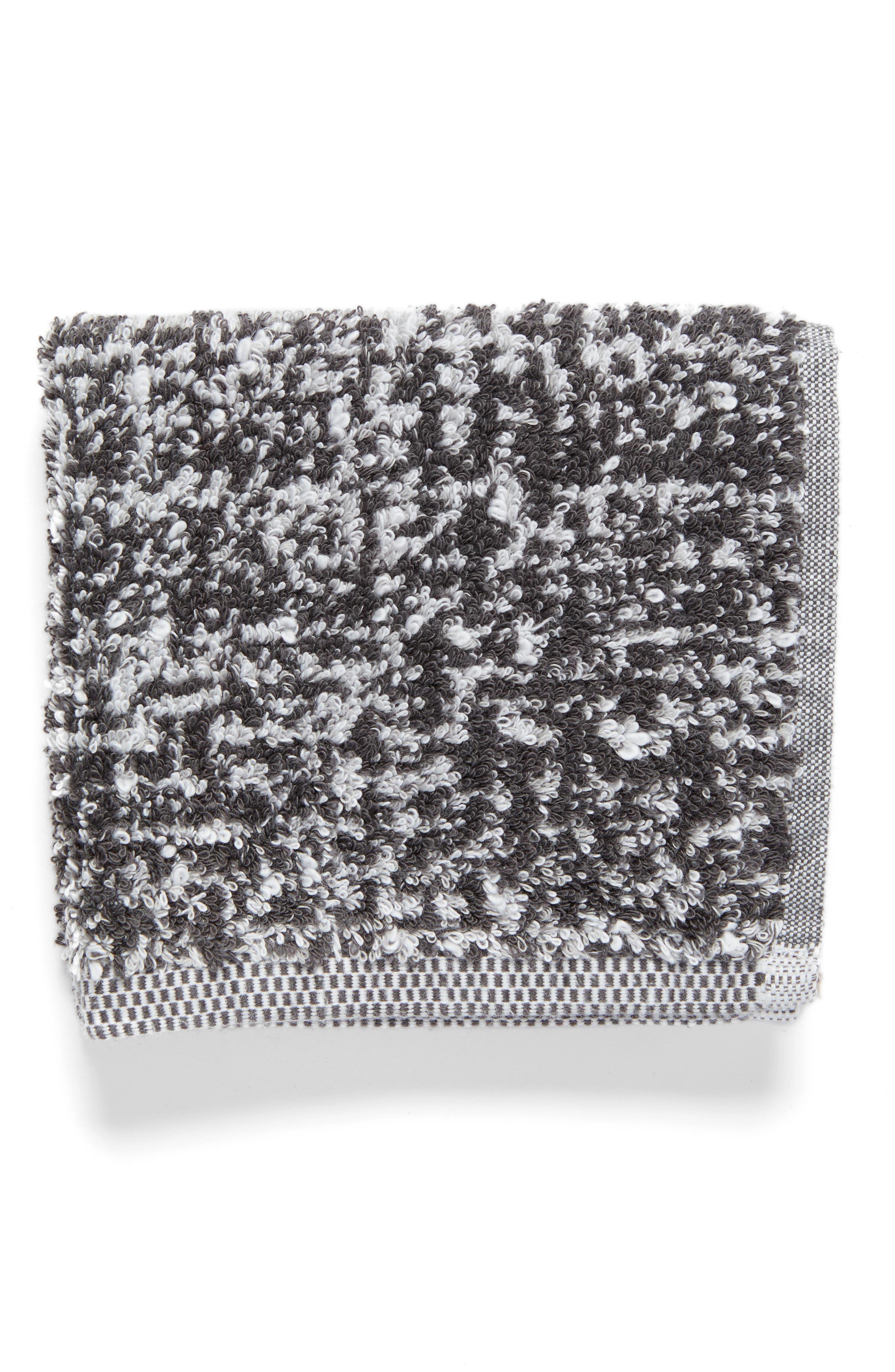 Tweed Jacquard Washcloth,                         Main,                         color, Grey Magnet