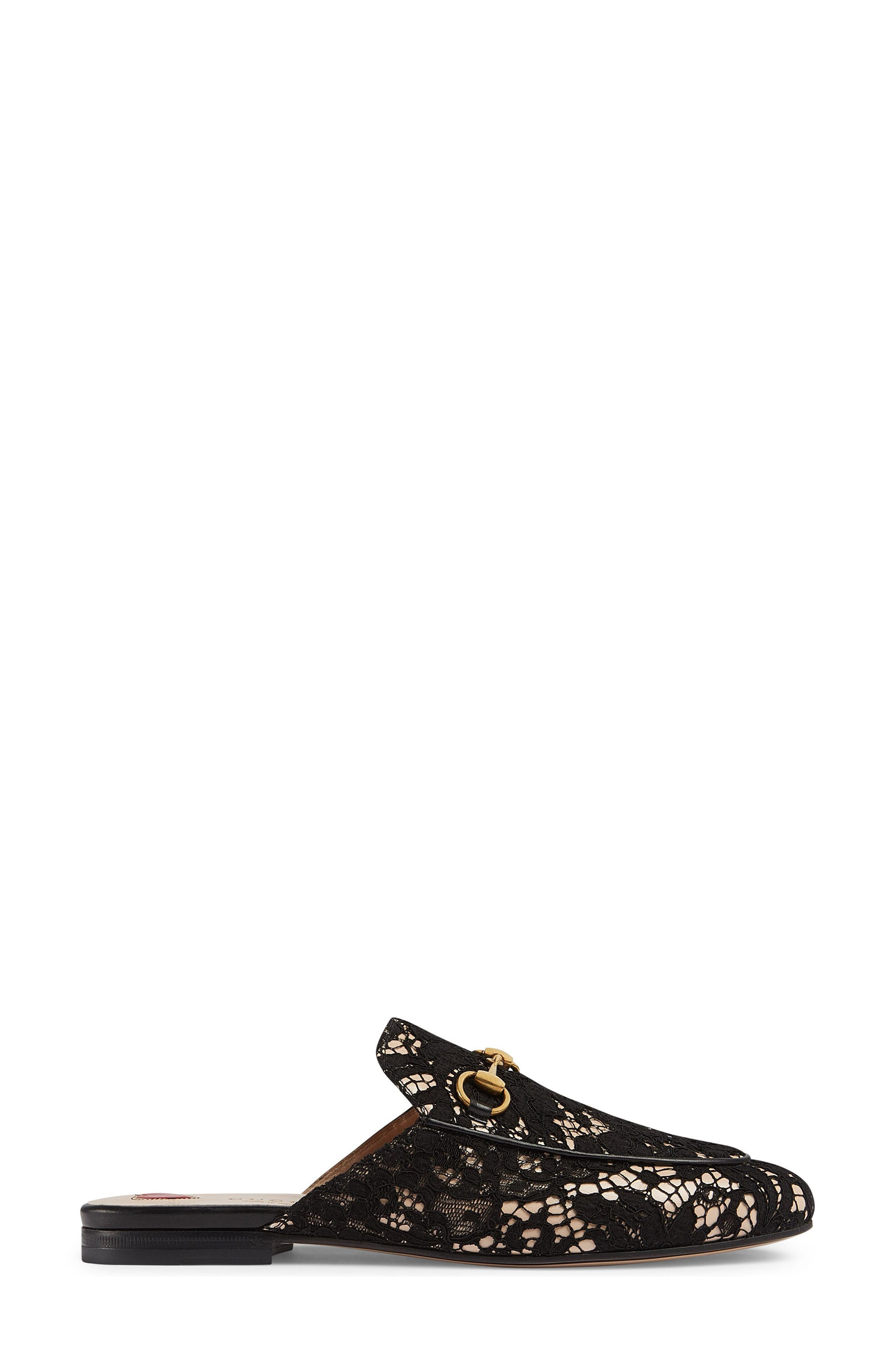 Alternate Image 1 Selected - Gucci Lace Princetown Loafer Mule (Women)