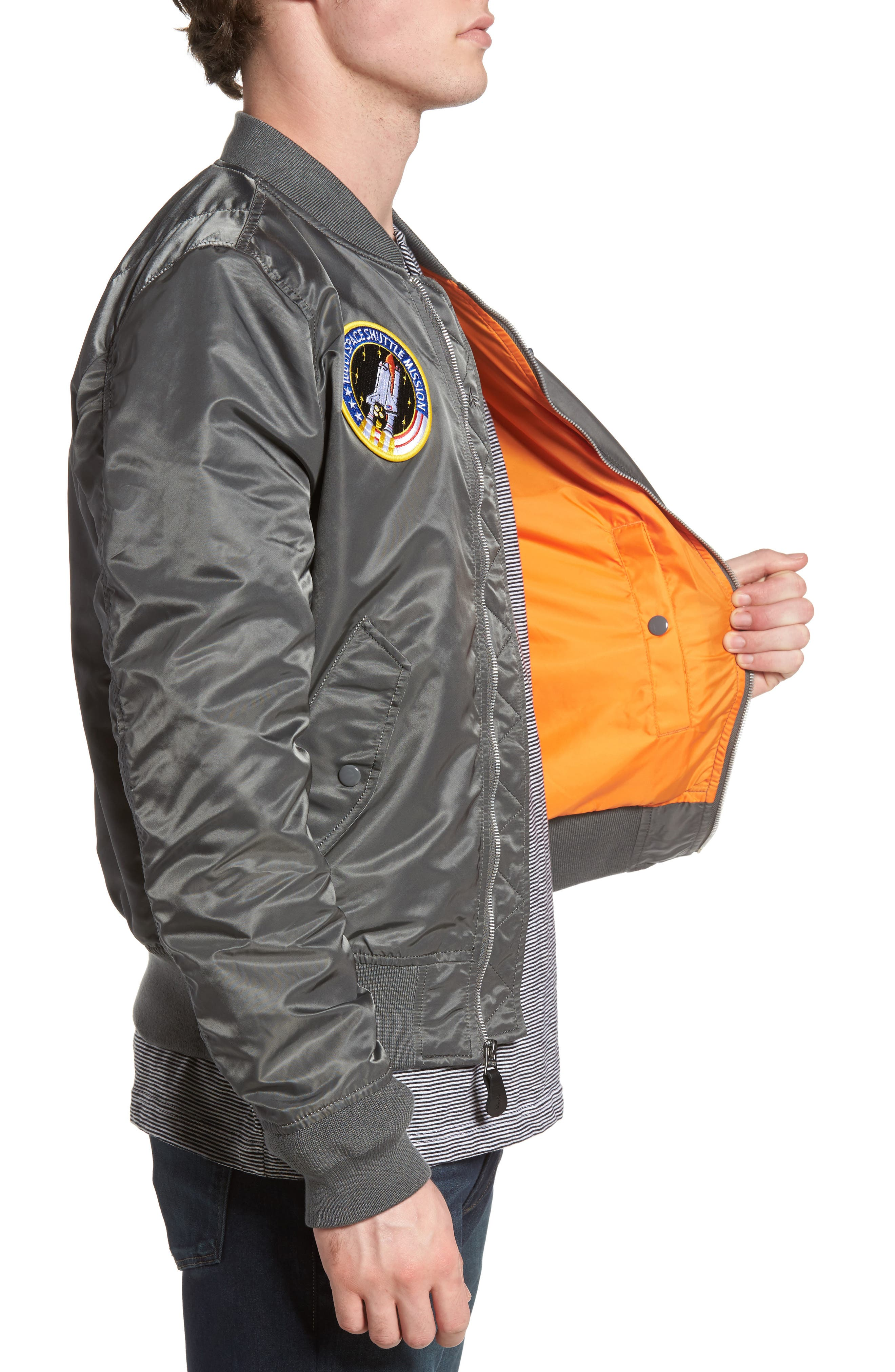 Alternate Image 3  - Alpha Industries Lightweight NASA L-2B Bomber Jacket