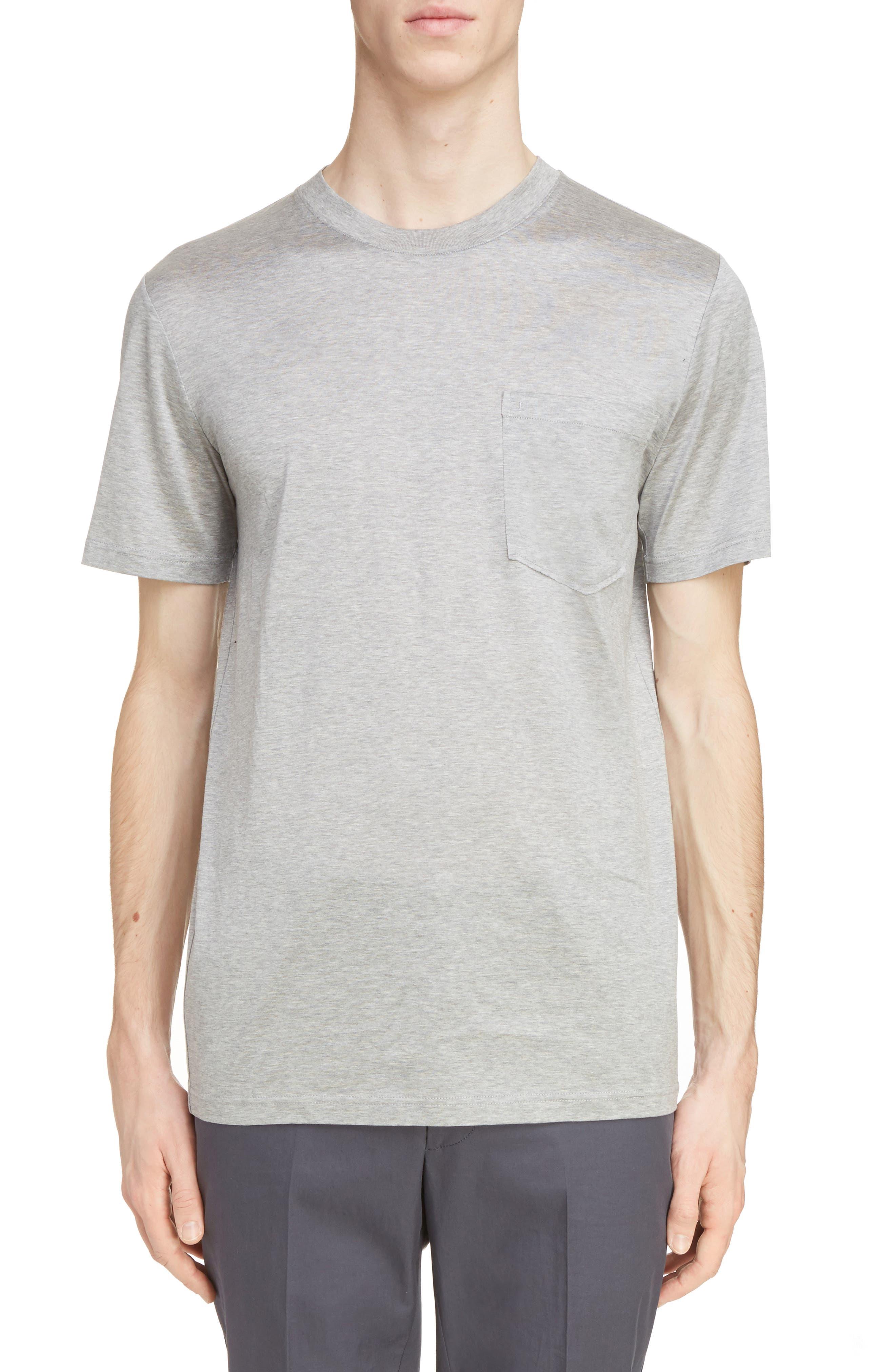 L Pocket T-Shirt,                         Main,                         color, Grey