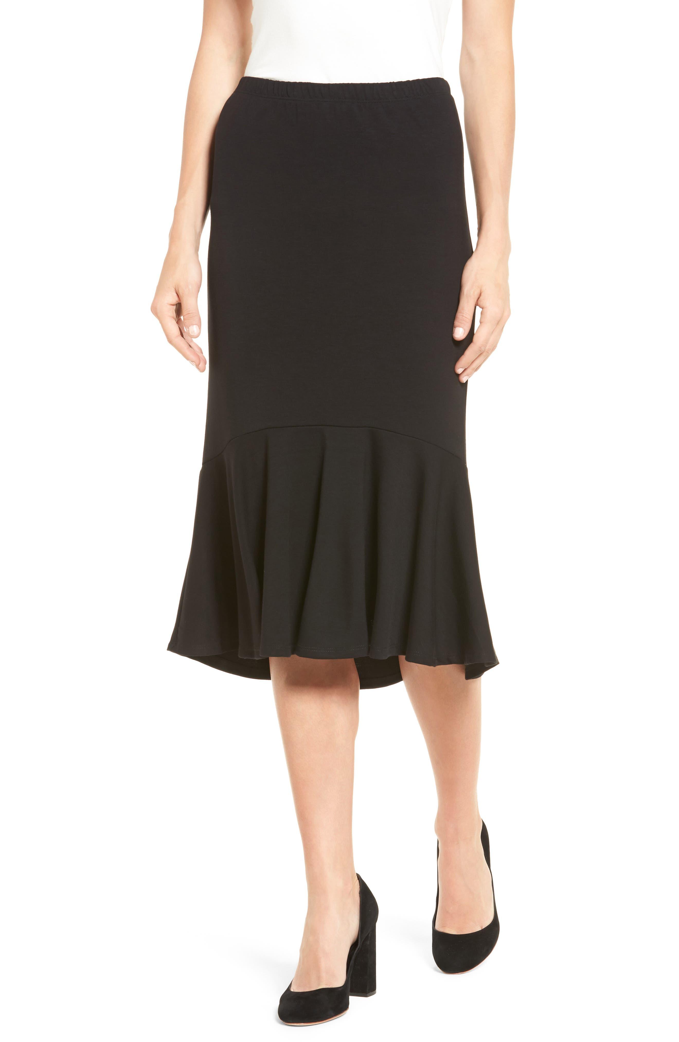 HALOGEN<SUP>®</SUP> Ruffle Hem Knit Skirt