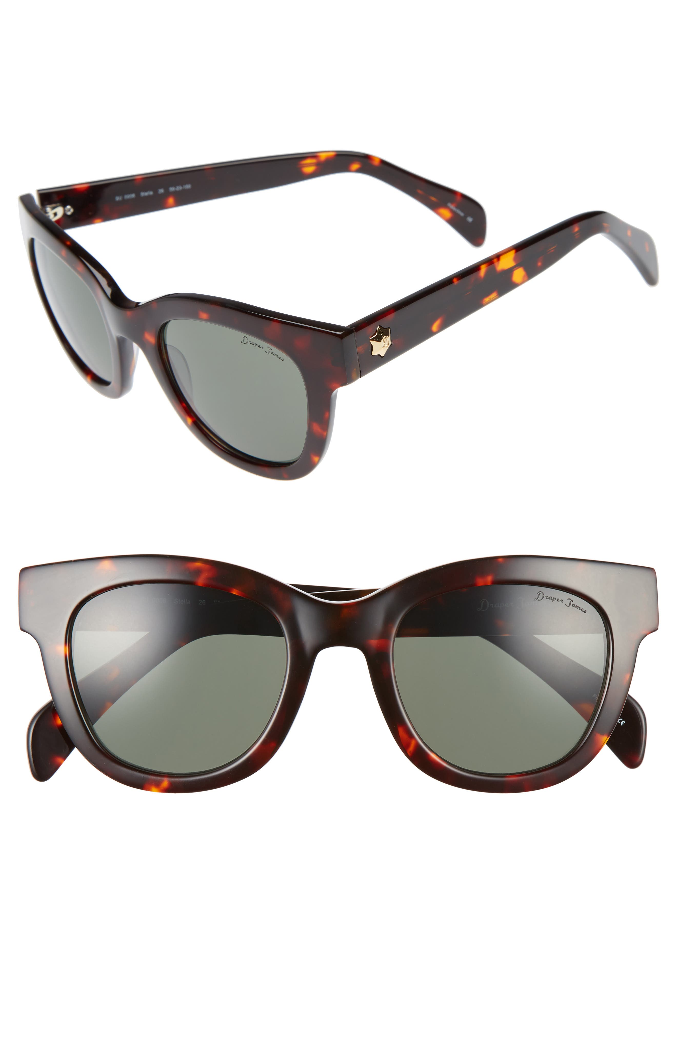 Alternate Image 1 Selected - Draper James 50mm Gradient Lens Cat Eye Sunglasses