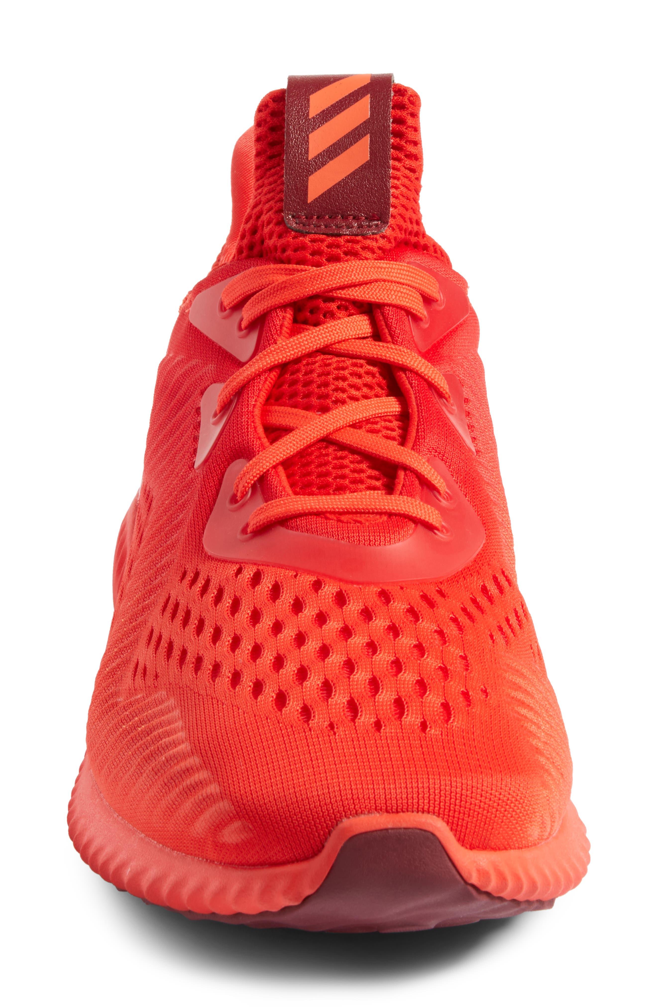 AlphaBounce Running Shoe,                             Alternate thumbnail 4, color,                             Blaze Orange/Red/Burgundy