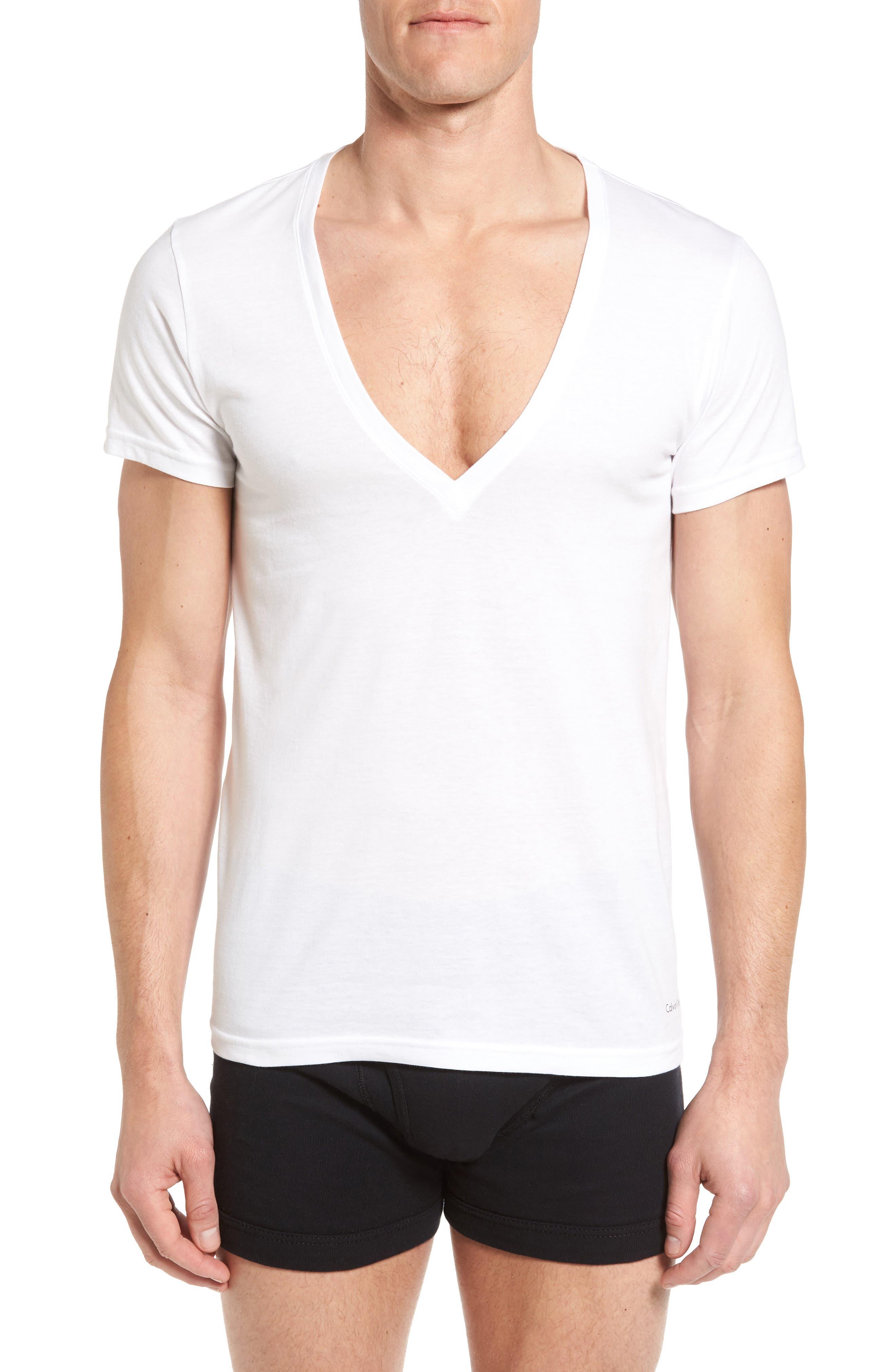 2-Pack V-Neck T-Shirt,                             Alternate thumbnail 4, color,                             White