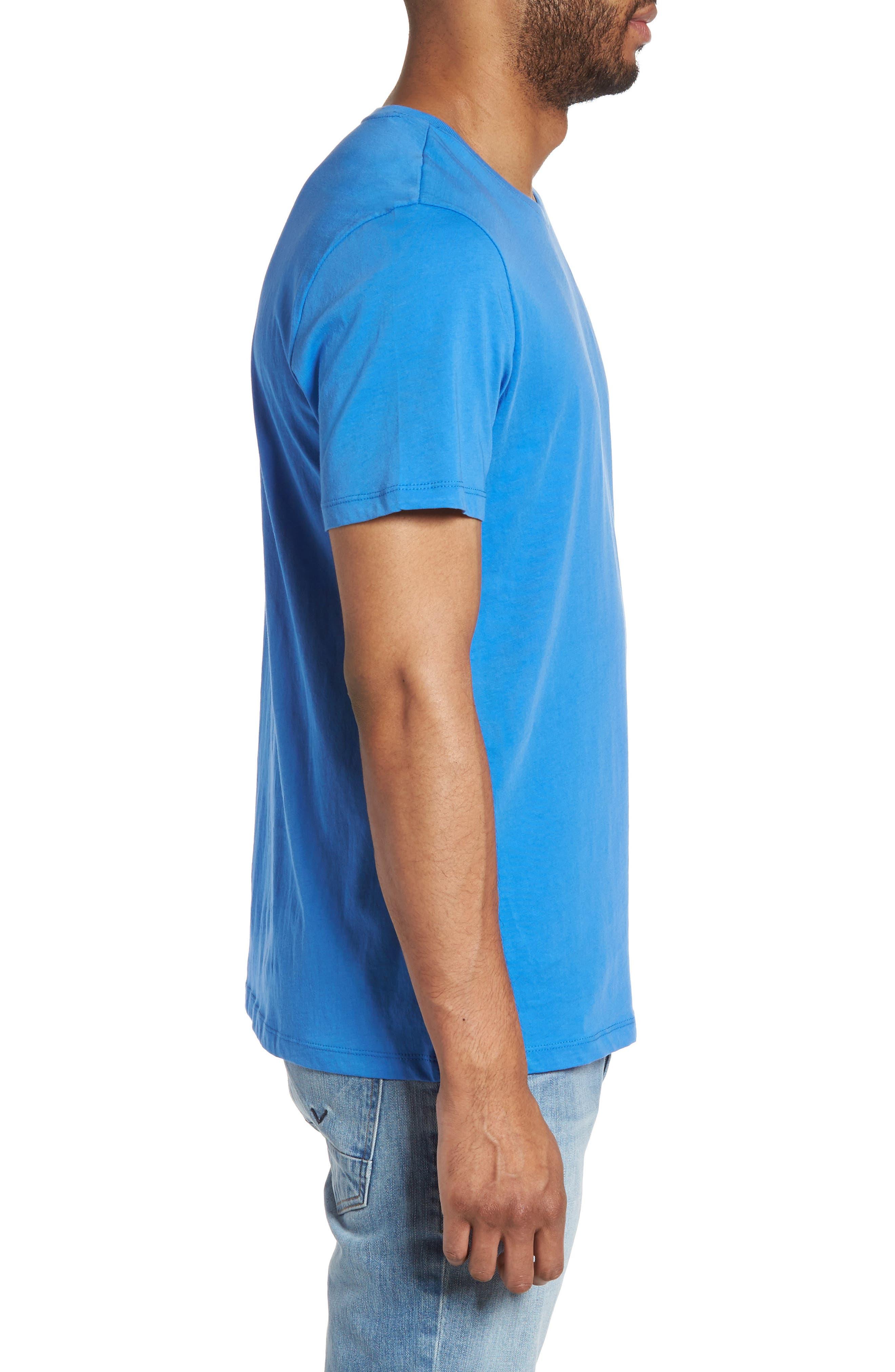 Slim Crewneck T-Shirt,                             Alternate thumbnail 3, color,                             Sail Blue