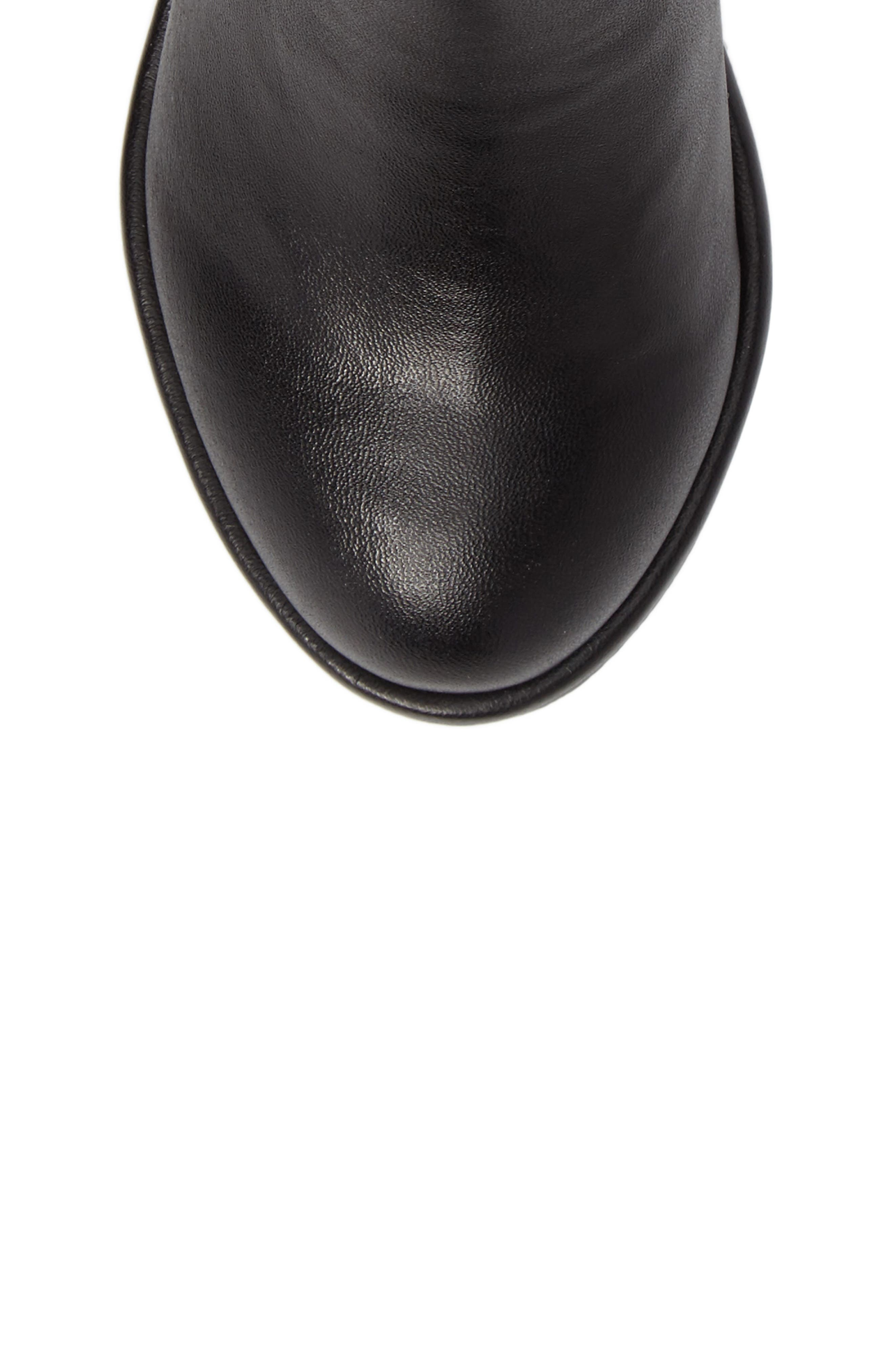 Lowland Riding Boot,                             Alternate thumbnail 5, color,                             Black Faux Leather
