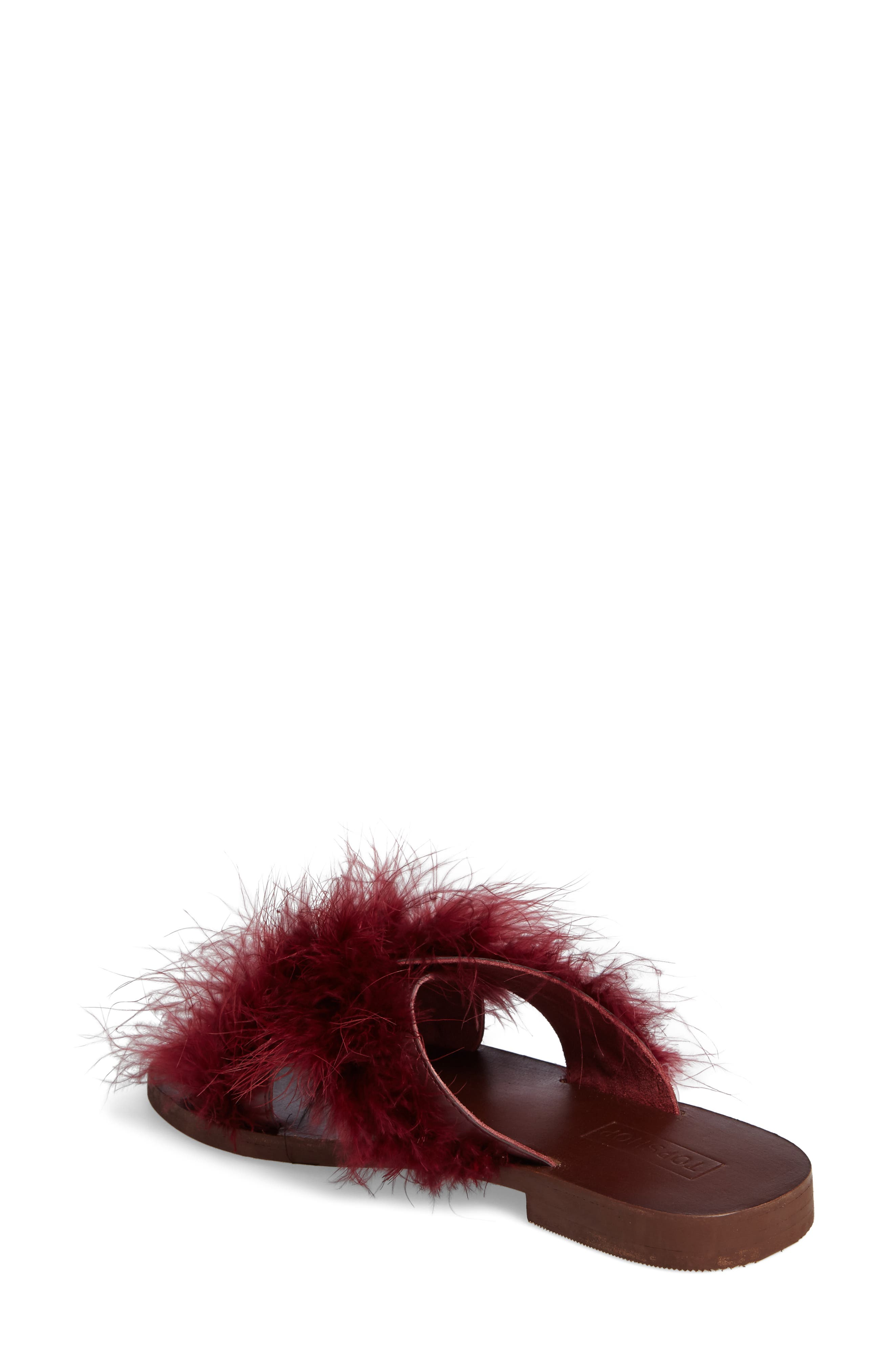 Alternate Image 2  - Topshop Fenella Feathered Sandal (Women)