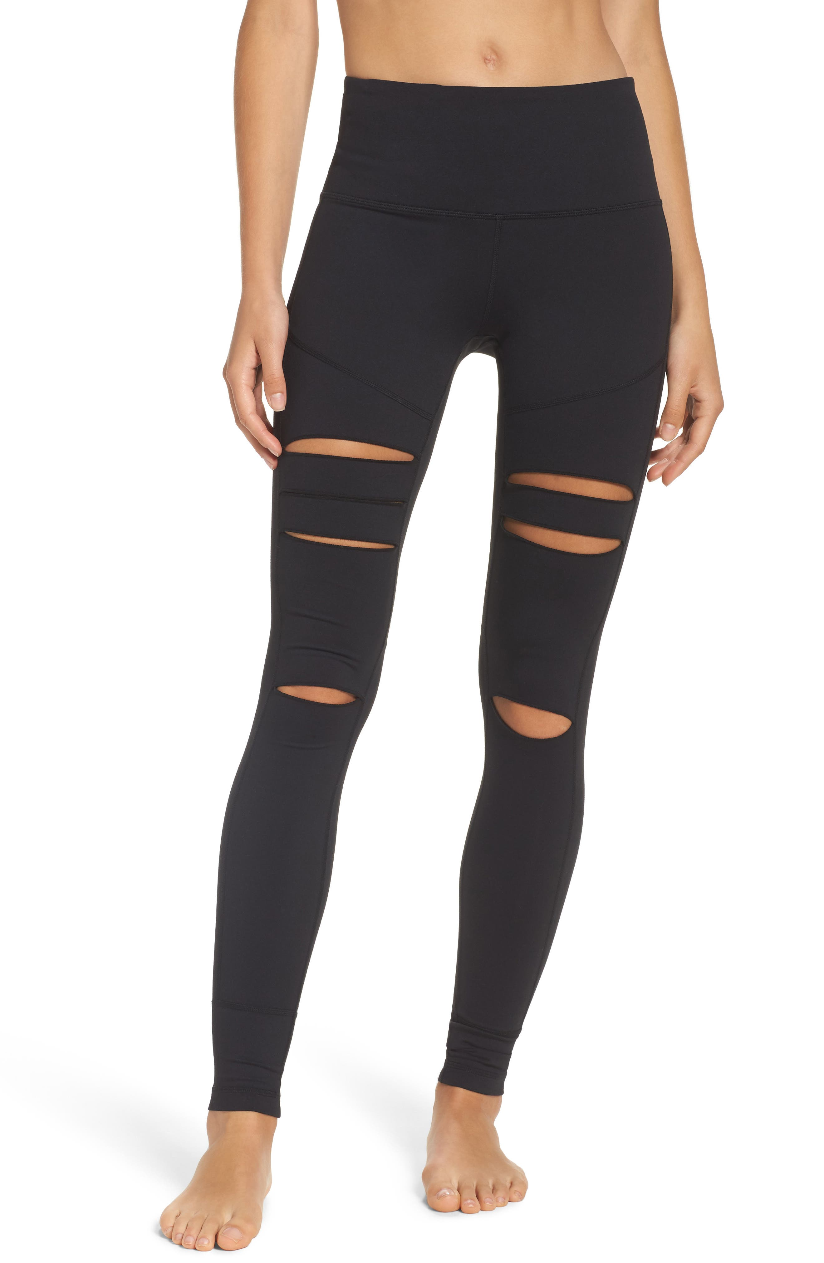 Alternate Image 1 Selected - Zella Cece High Waist Open Knee Leggings