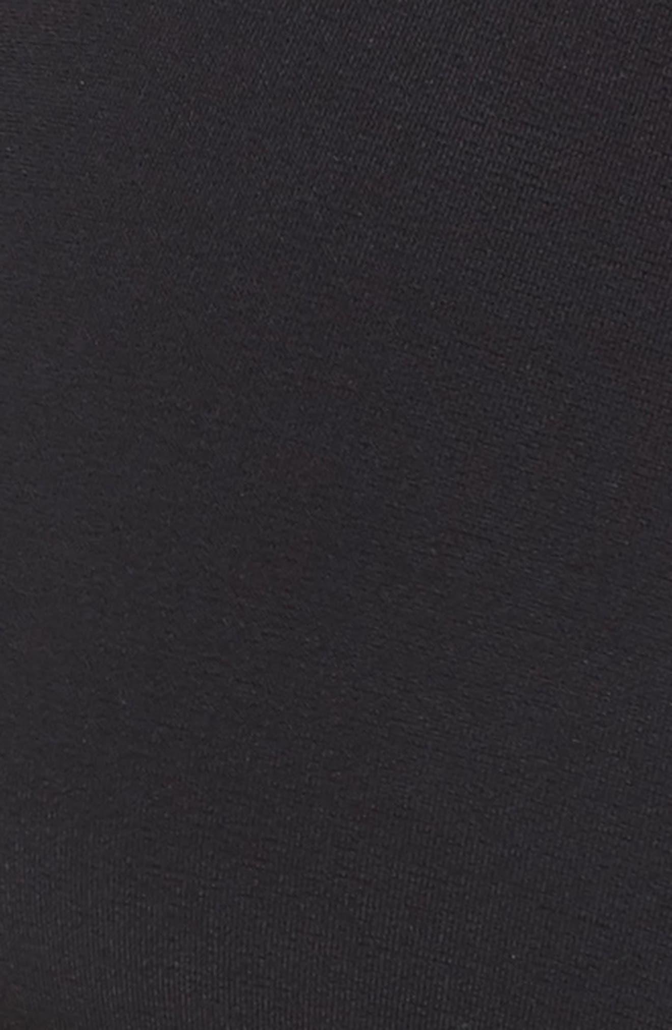 Reversible Wrap Bikini Top,                             Alternate thumbnail 4, color,                             Black