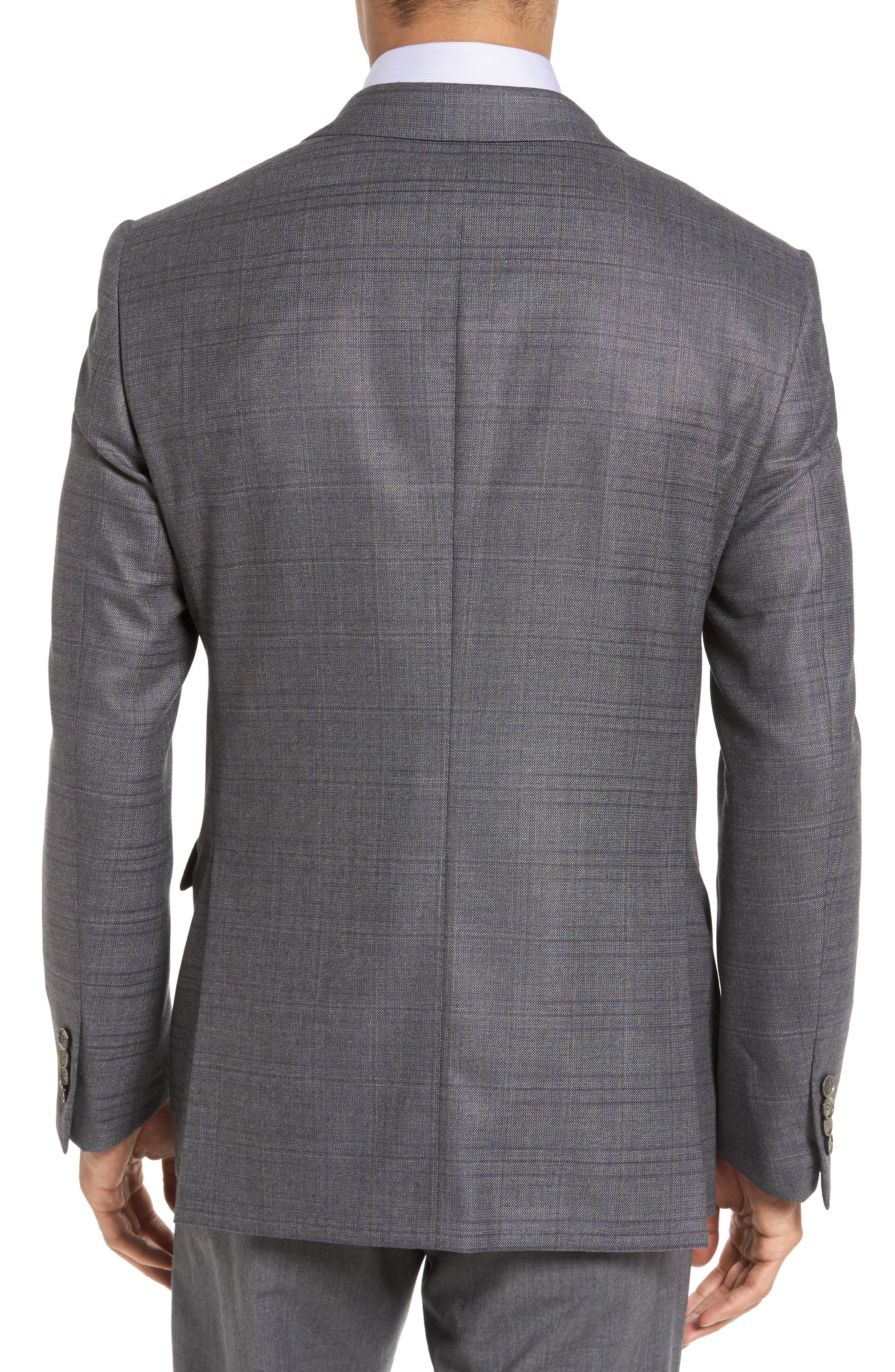 Classic Fit Windowpane Wool Sport Coat,                             Alternate thumbnail 2, color,                             Grey