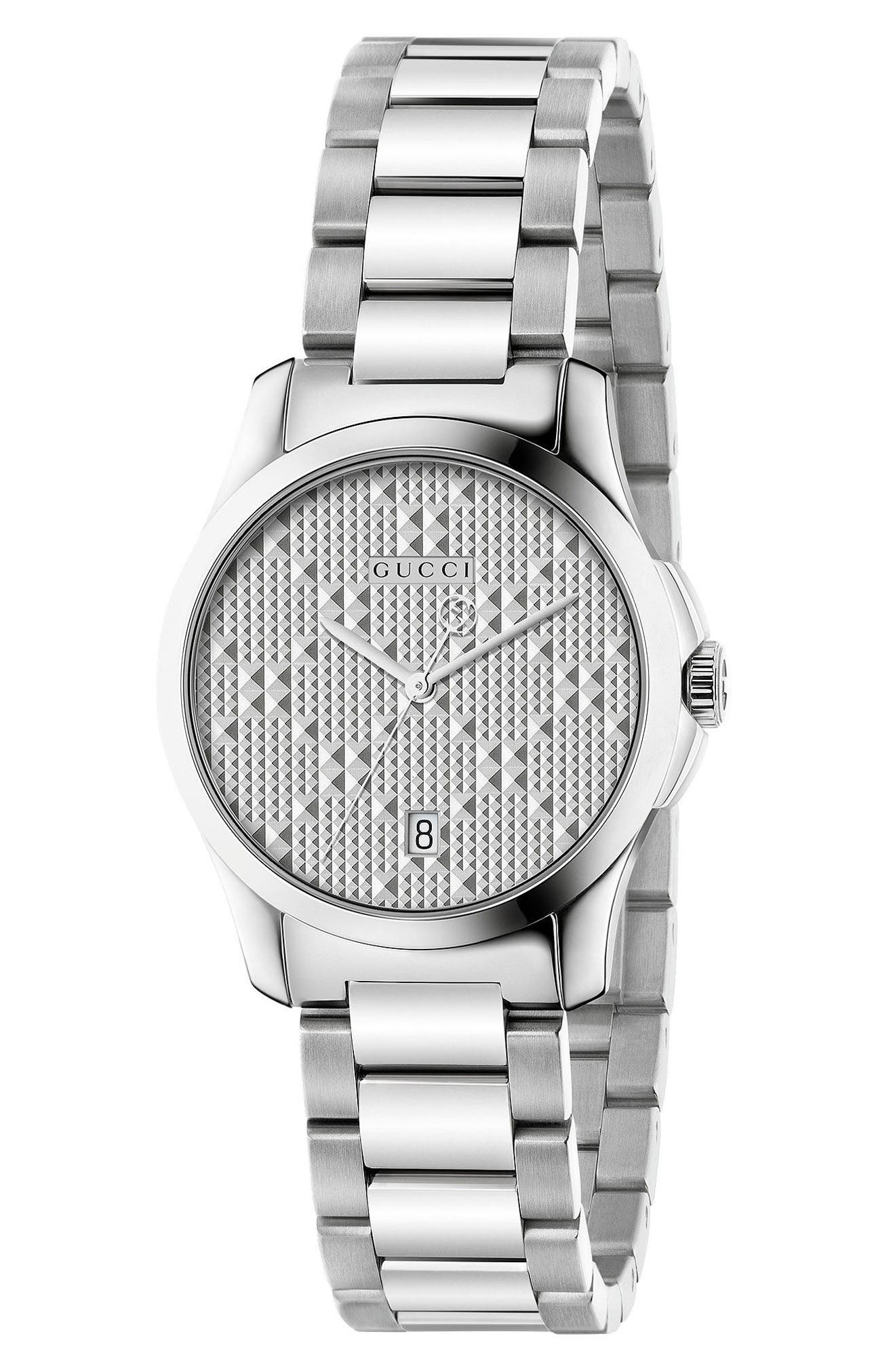 Alternate Image 1 Selected - Gucci G-Timeless Bracelet Watch, 27mm