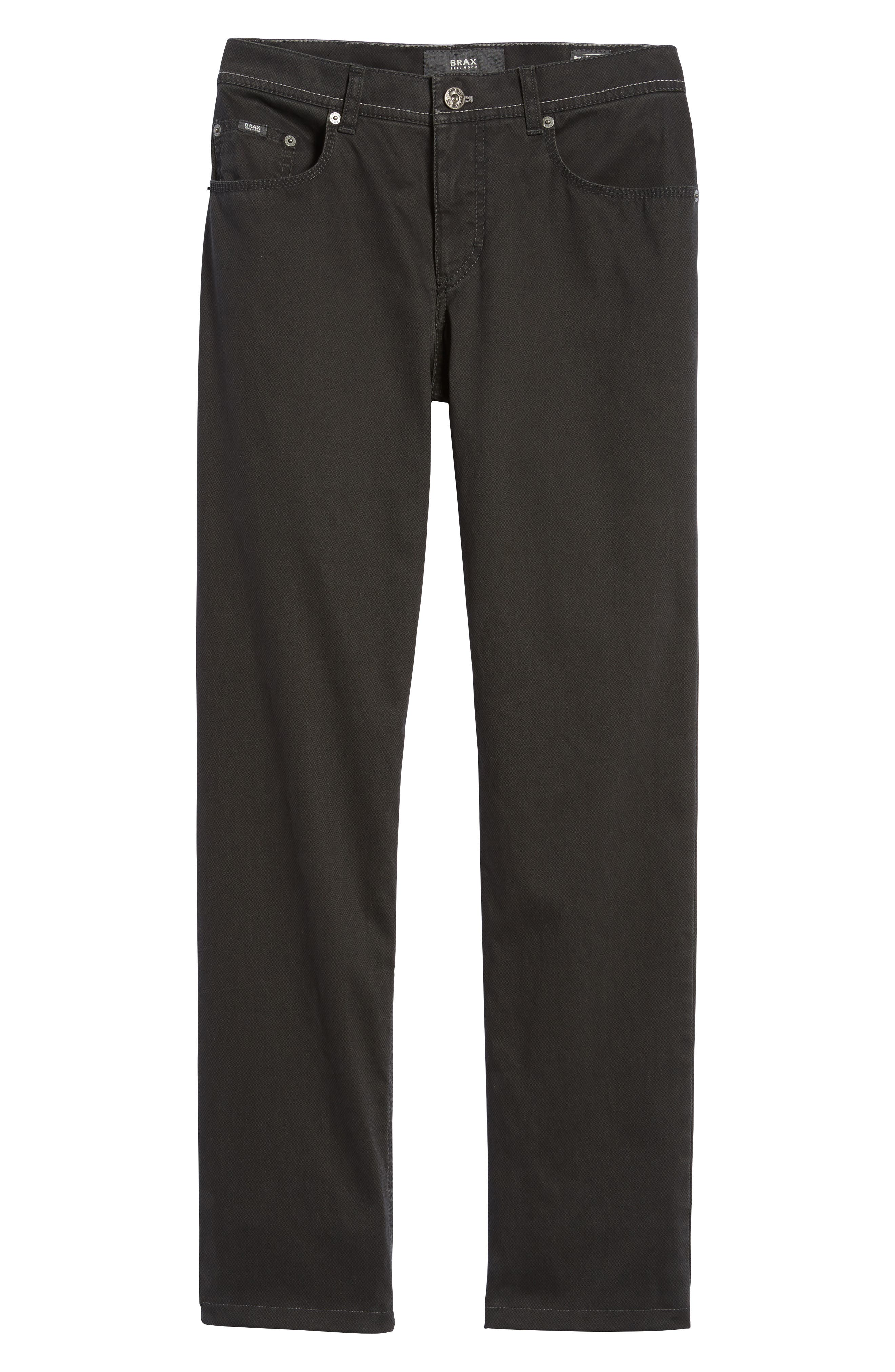 Luxury Stretch Modern Fit Trousers,                             Alternate thumbnail 6, color,                             Charcoal