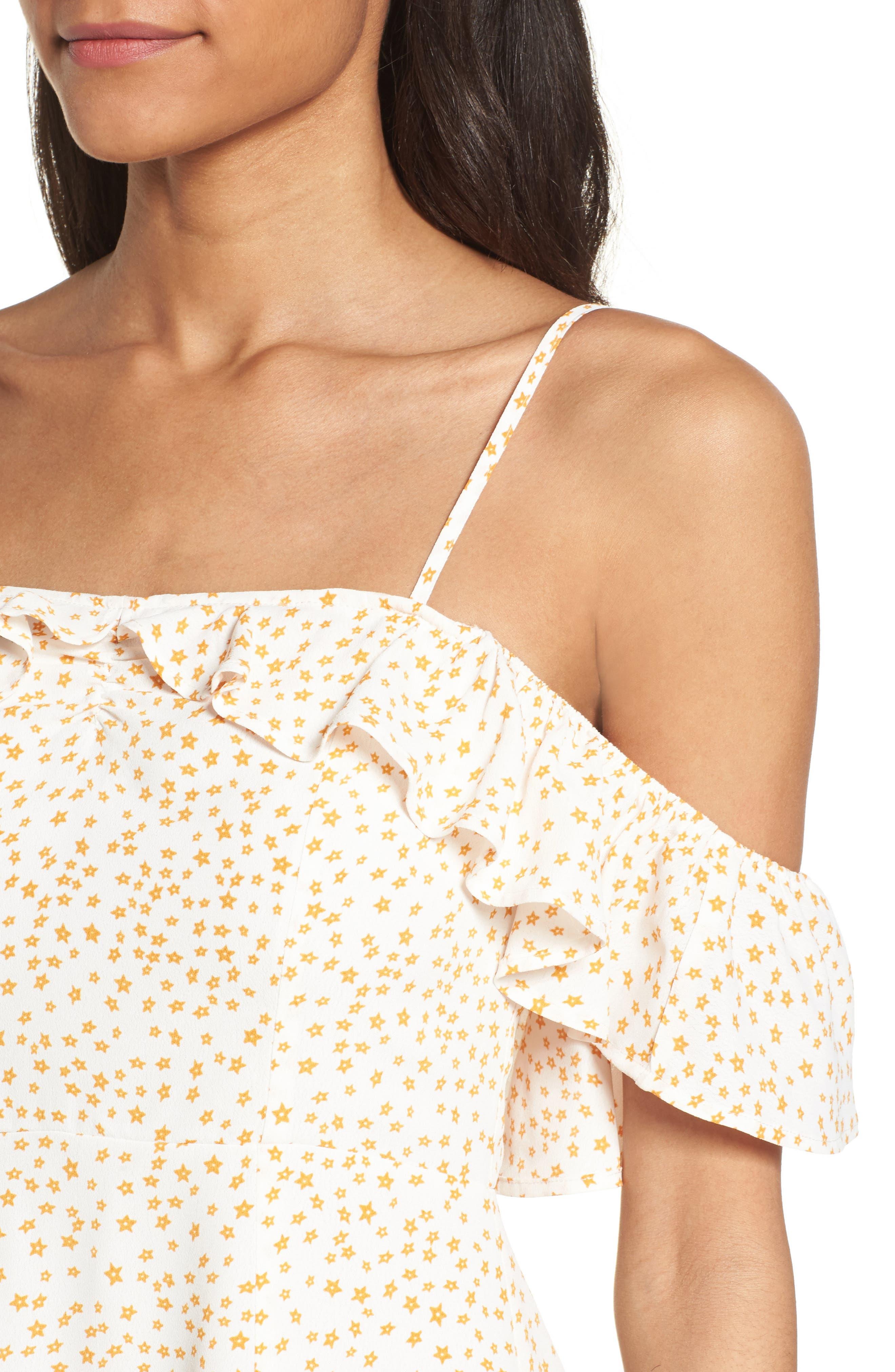 Alternate Image 4  - For Love & Lemons Aurora Ruffle Shift Dress