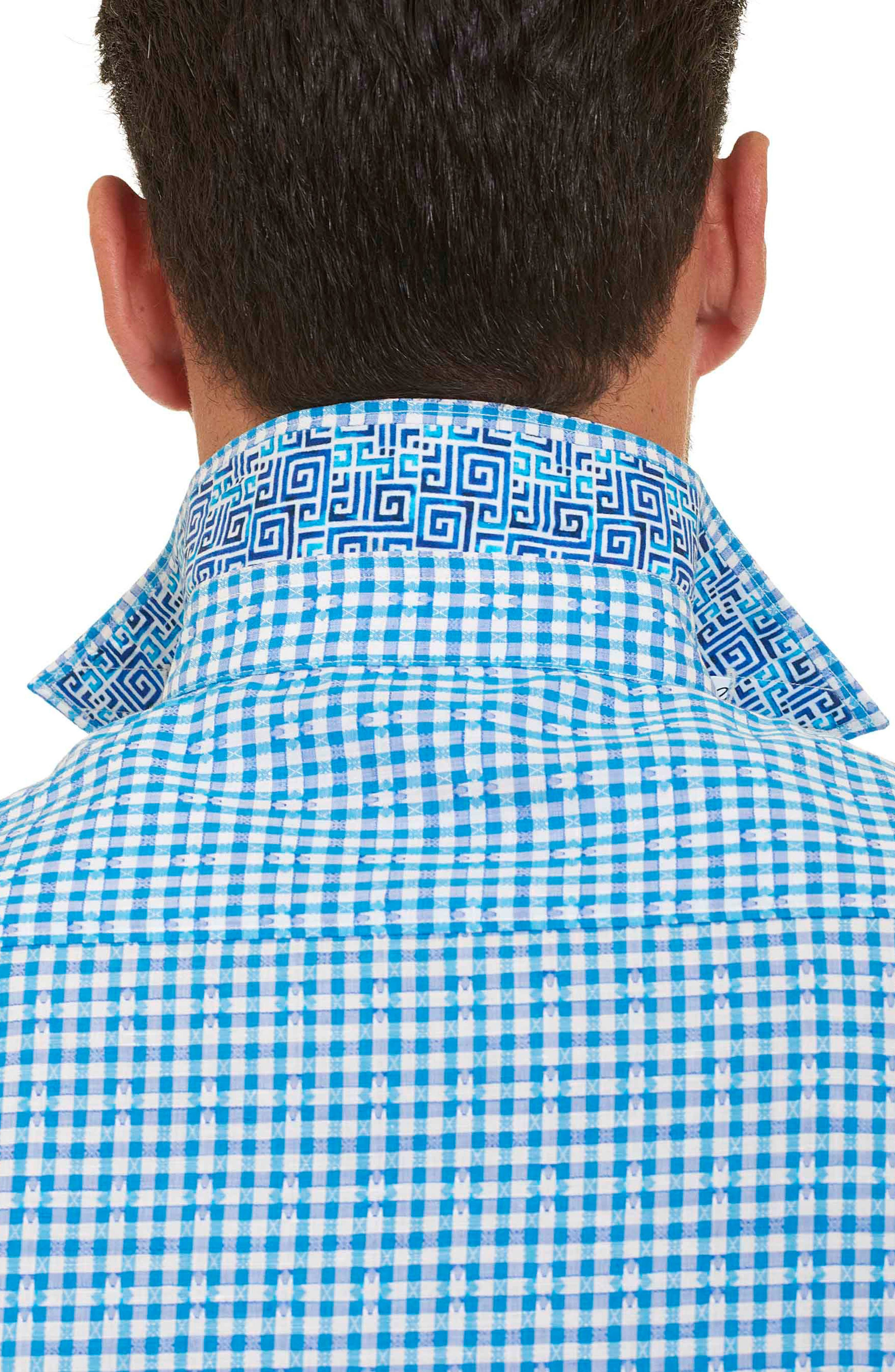 Alternate Image 2  - Robert Graham La Monica Classic Fit Gingham Linen & Cotton Sport Shirt