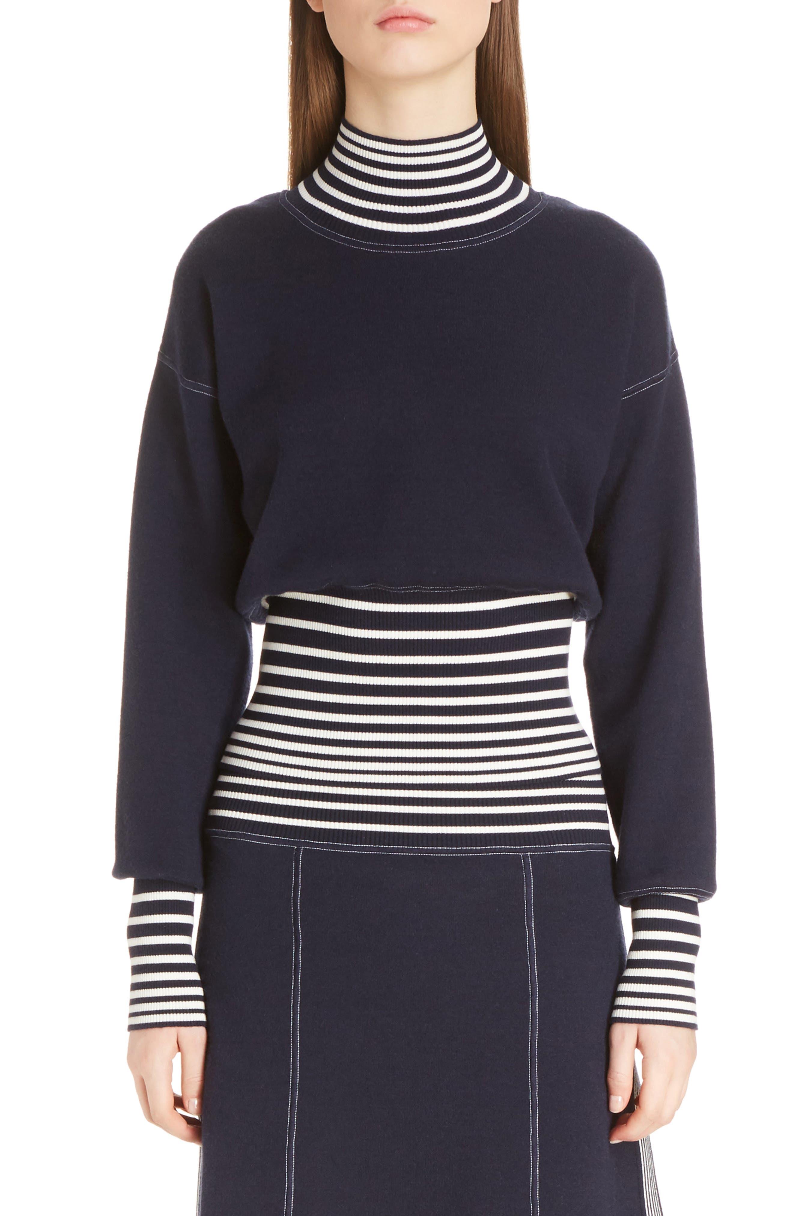 Alternate Image 1 Selected - Loewe Stripe Knit Turtleneck