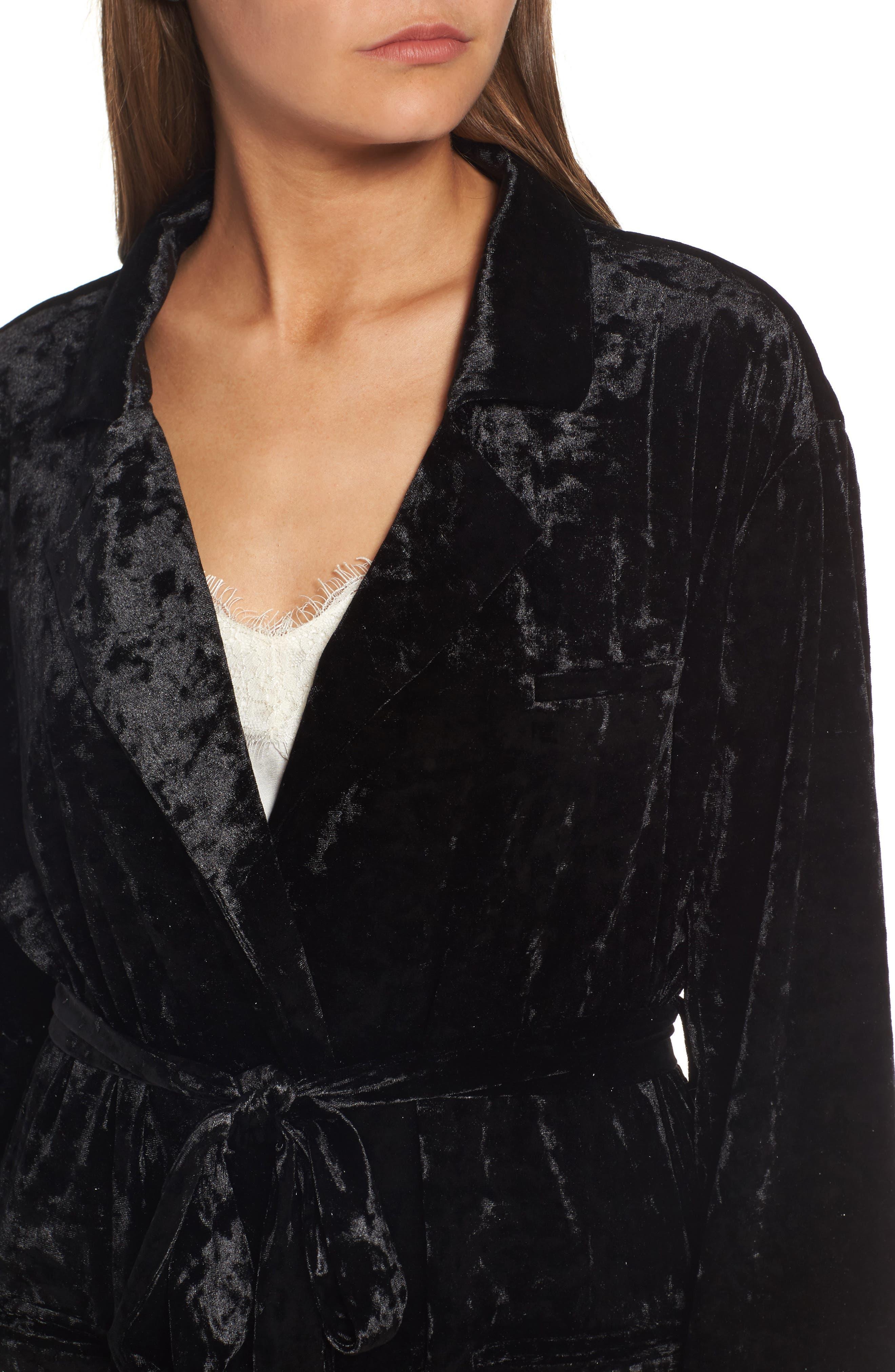 Alternate Image 4  - Chelsea28 Velvet Smoking Jacket