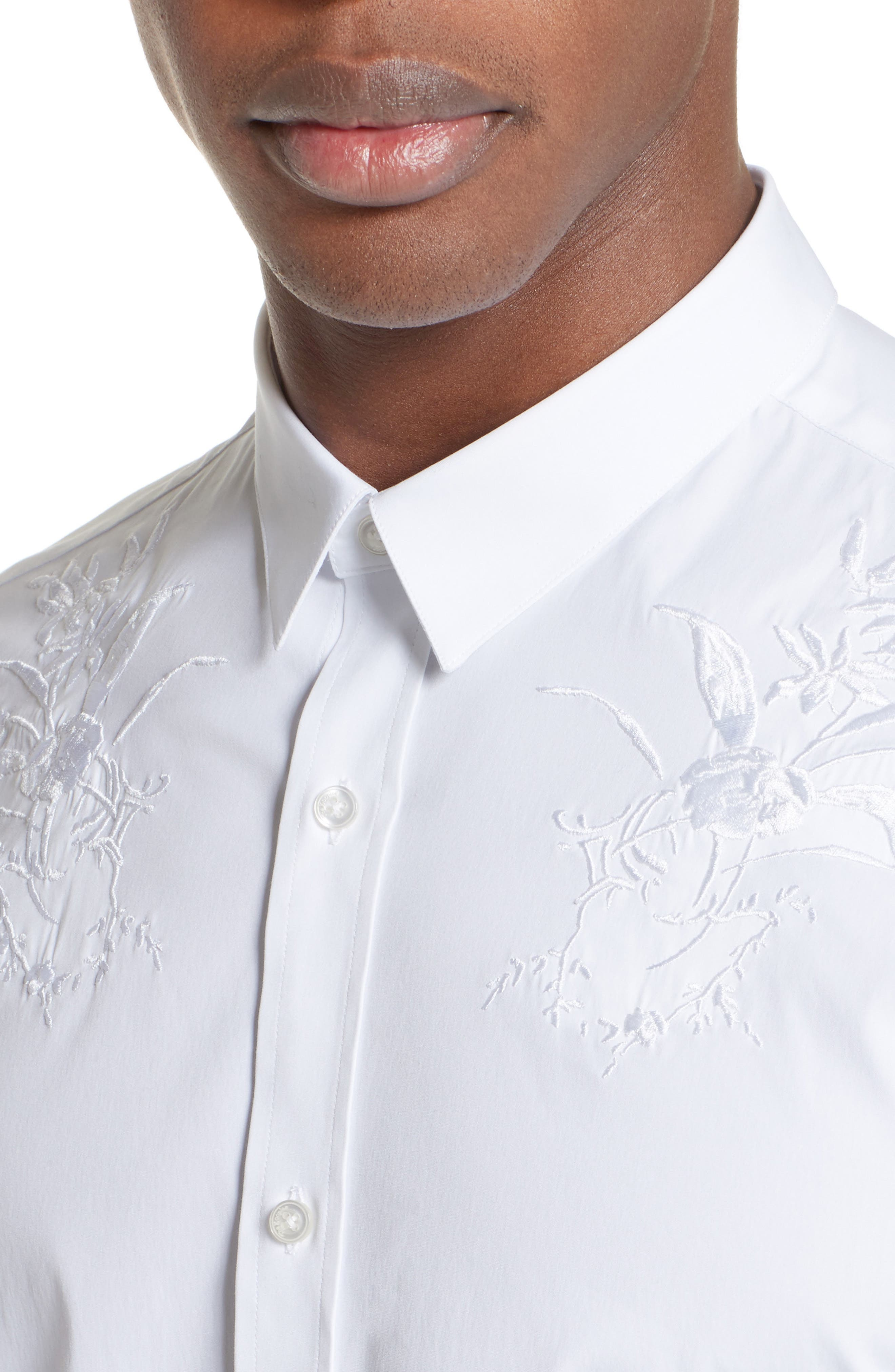 Alternate Image 4  - The Kooples Embroidered Sport Shirt